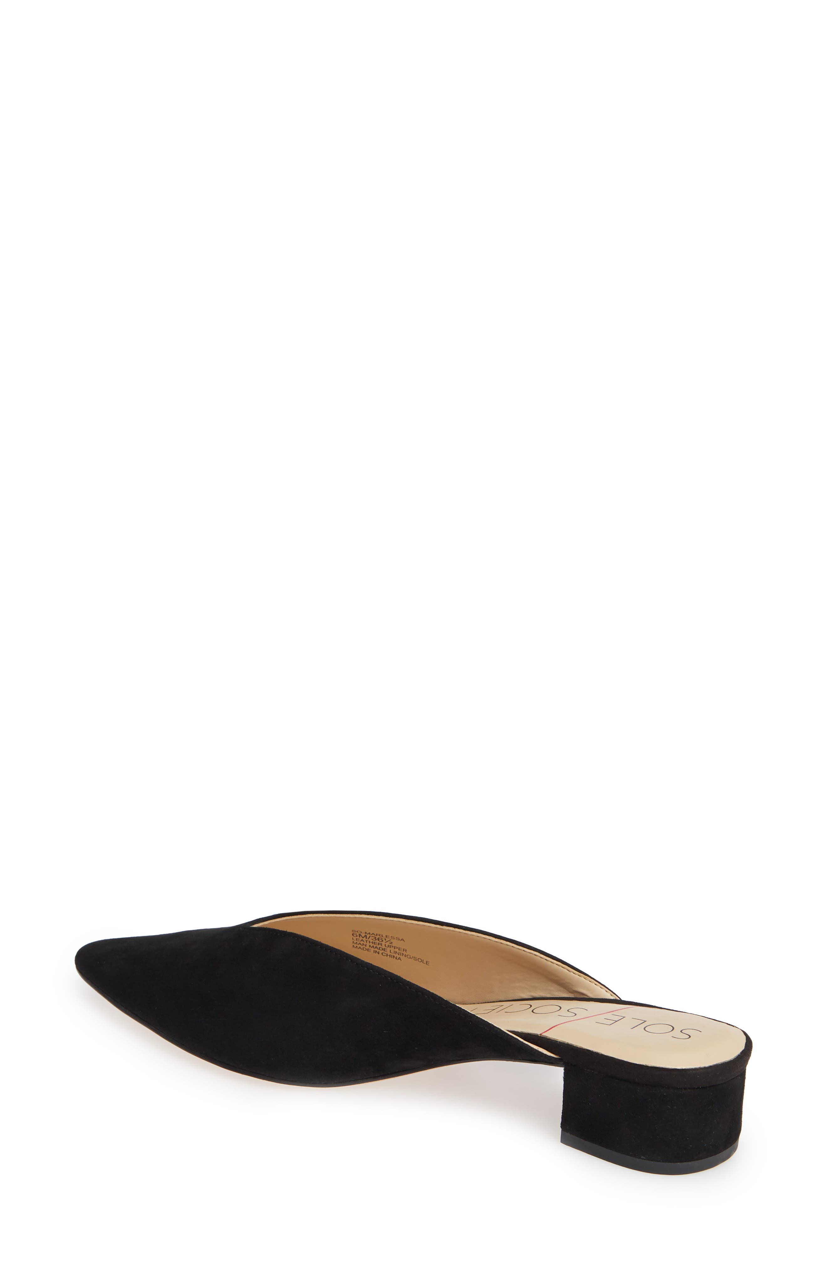 SOLE SOCIETY, Marlessa Mule, Alternate thumbnail 2, color, BLACK SUEDE