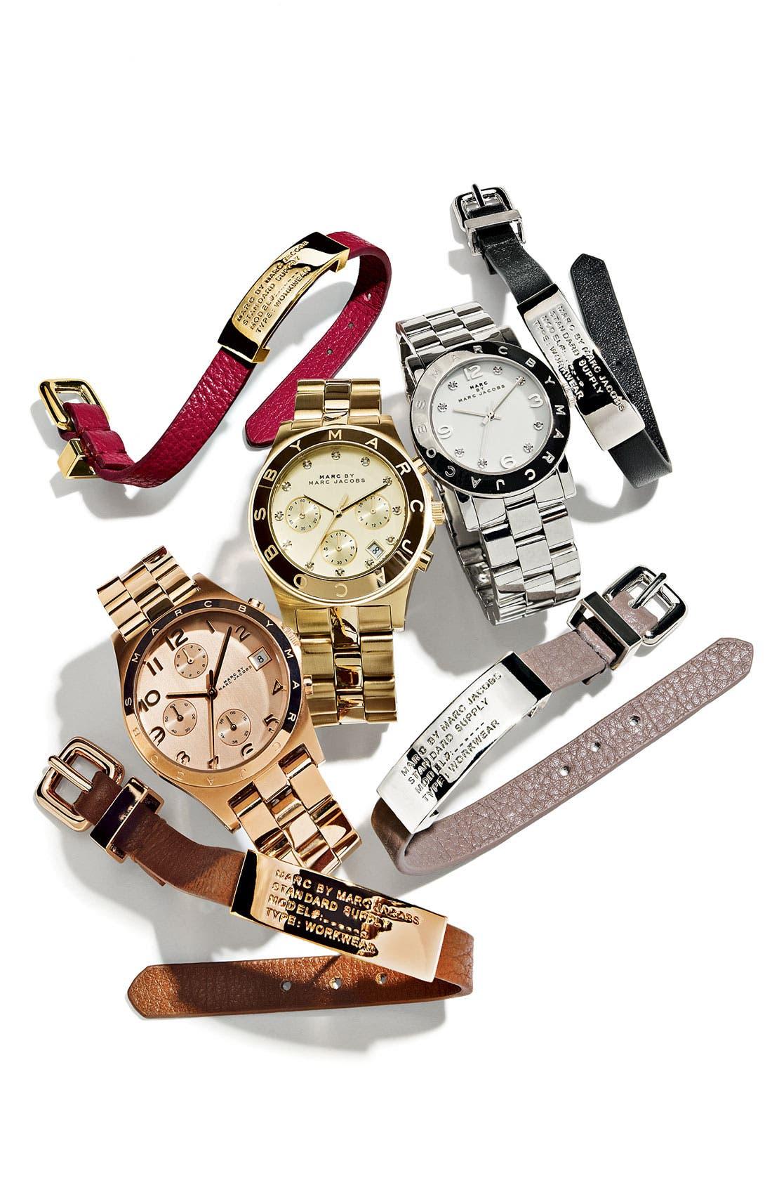 MARC JACOBS, 'Henry' Chronograph Bracelet Watch, 37mm, Alternate thumbnail 7, color, 710