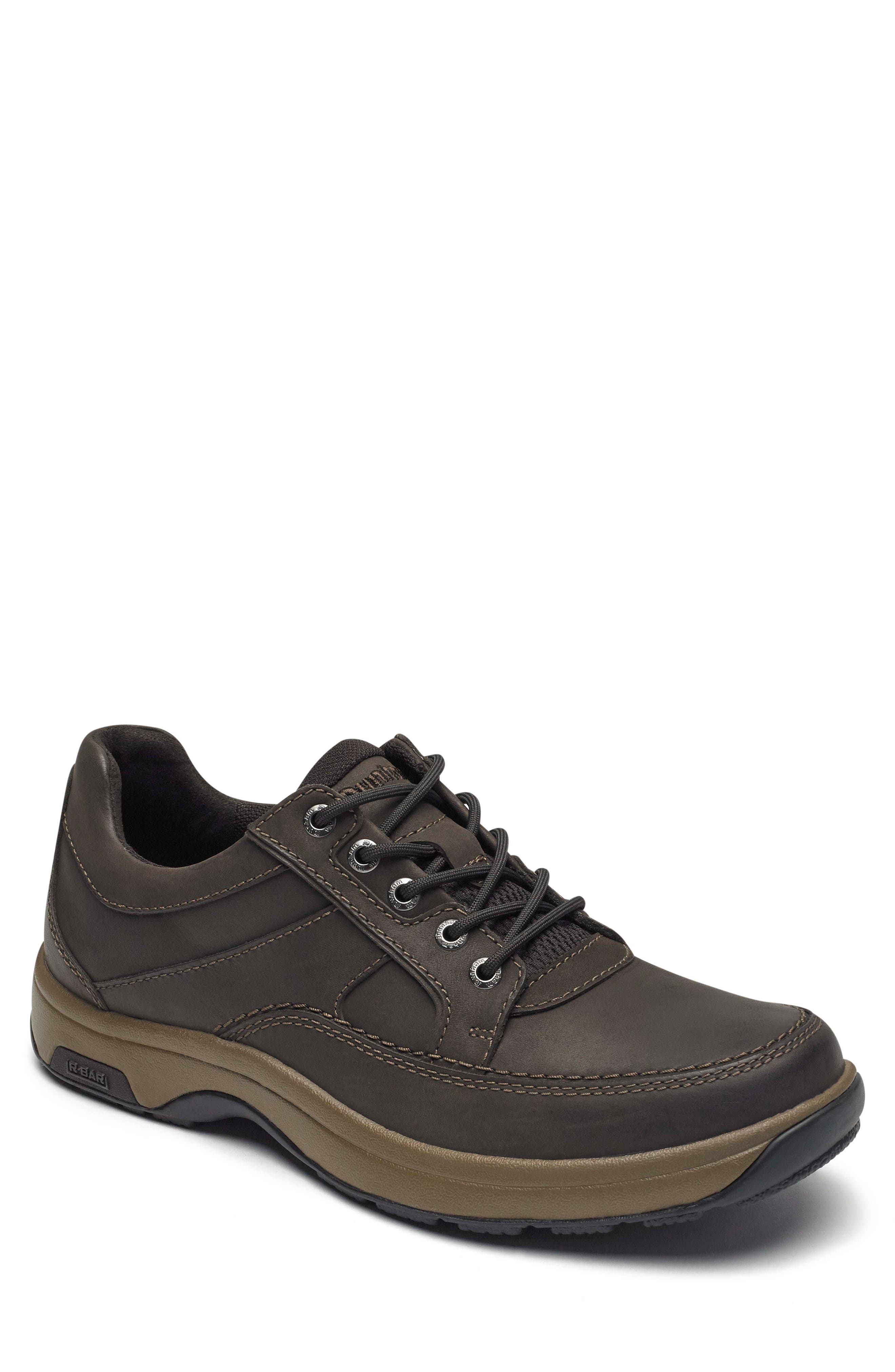 DUNHAM, 'Midland' Sneaker, Main thumbnail 1, color, BROWN LEATHER