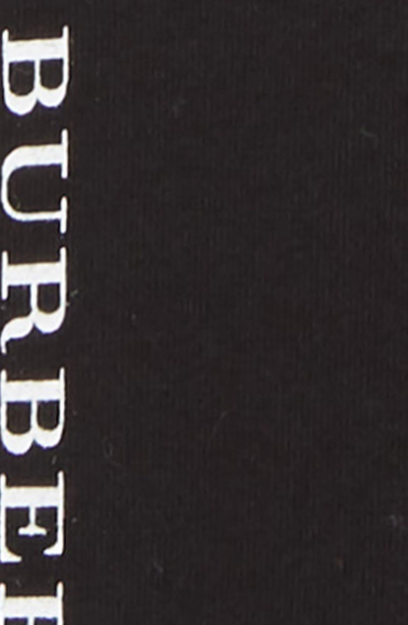 BURBERRY, Penny Logo Leggings, Alternate thumbnail 2, color, BLACK