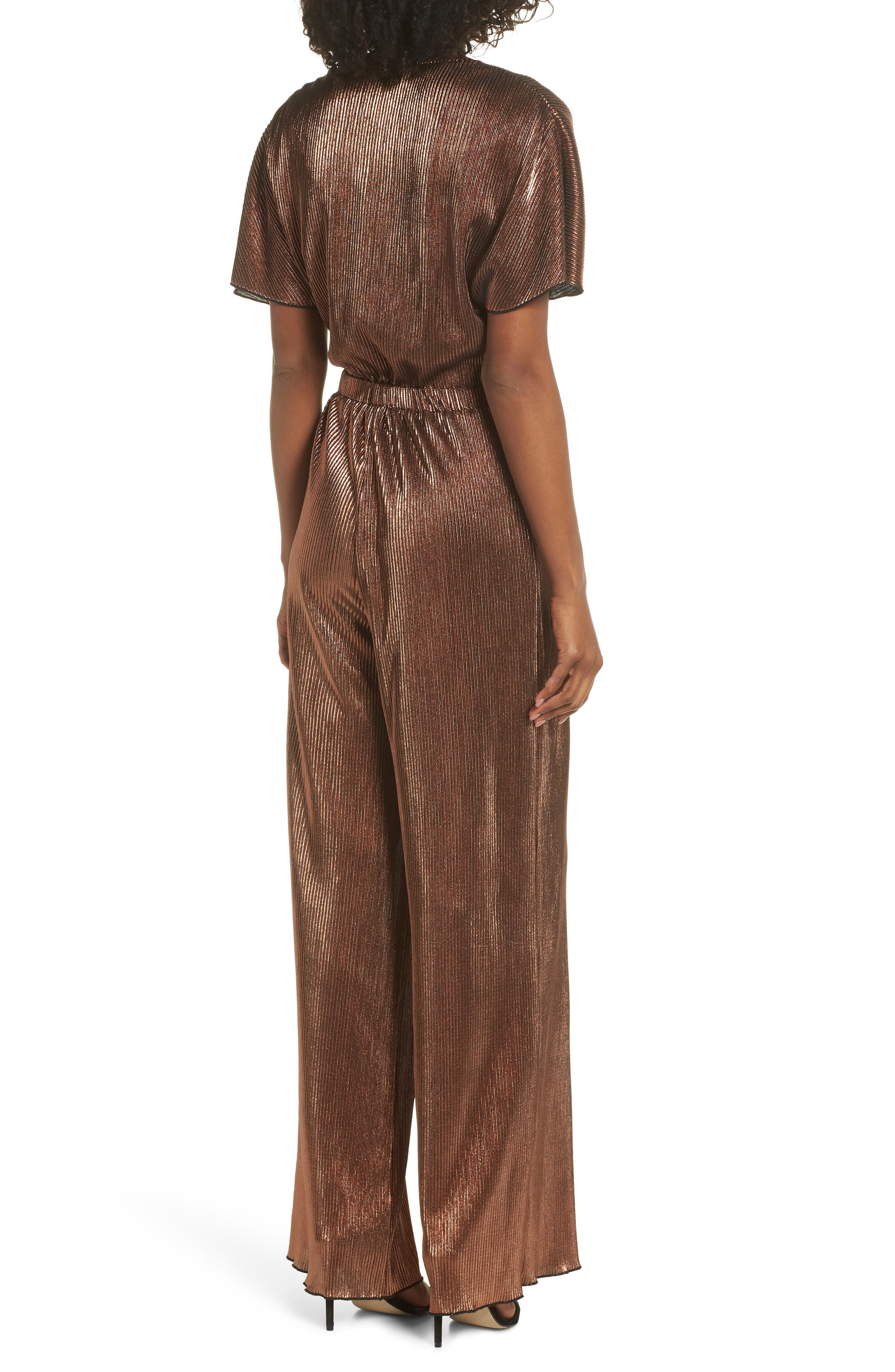 CHARLES HENRY, Crossover Jumpsuit, Alternate thumbnail 2, color, 220