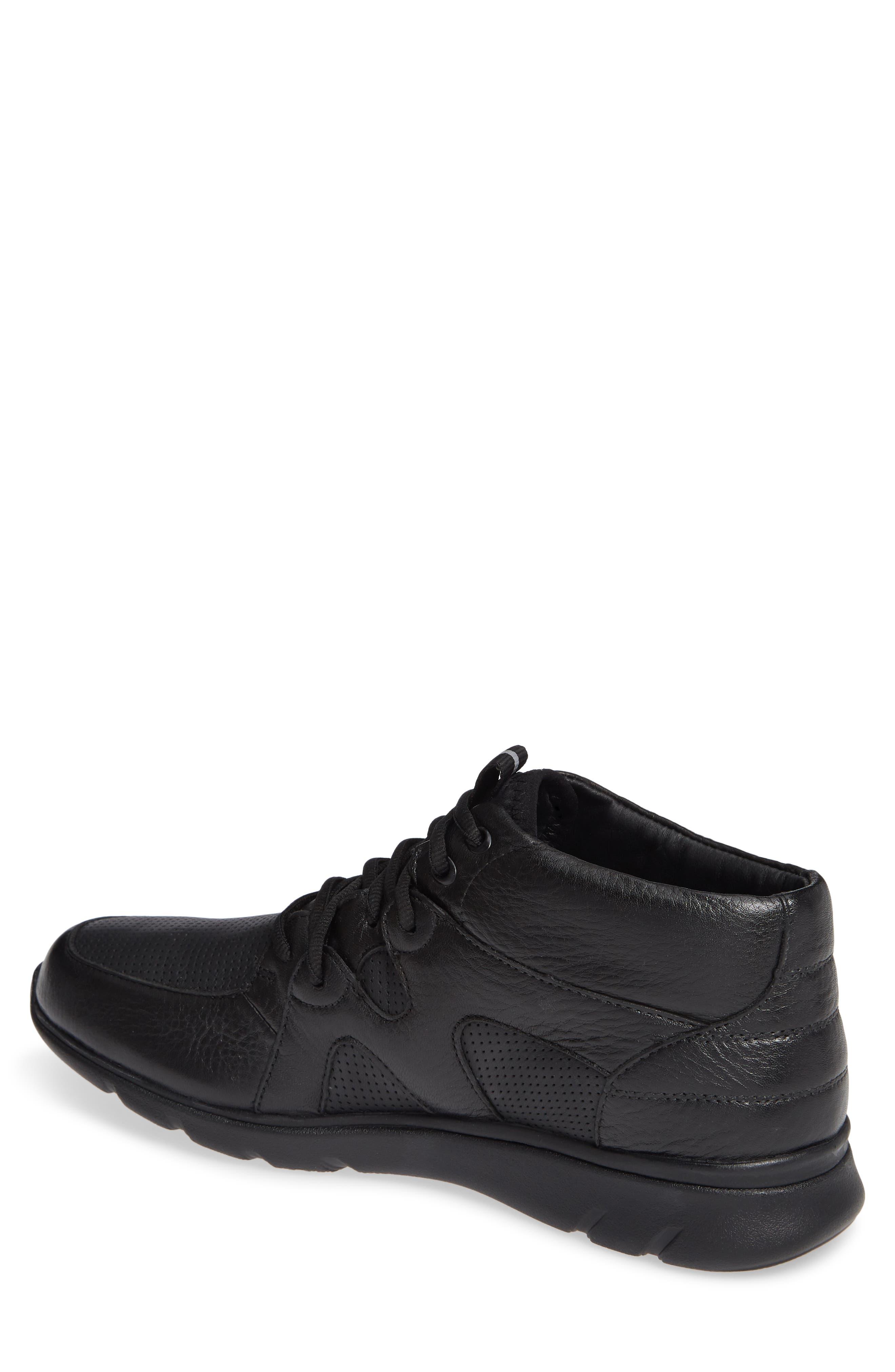 JOHNSTON & MURPHY, Prentiss Waterproof Sneaker, Alternate thumbnail 2, color, BLACK LEATHER