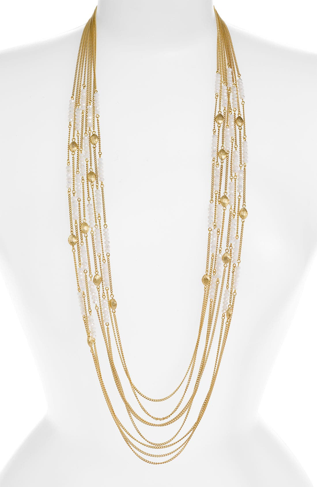 NORDSTROM, Multi Row Bead Necklace, Main thumbnail 1, color, 100