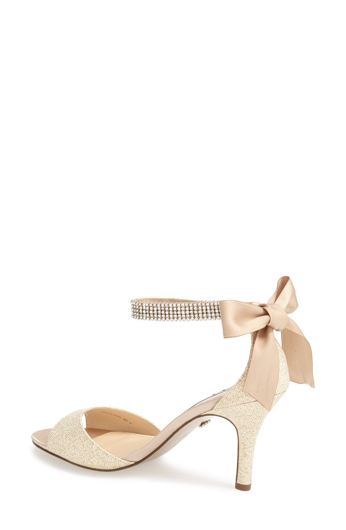 NINA, 'Vinnie' Crystal Embellished Ankle Strap Sandal, Alternate thumbnail 2, color, CHAMPAGNE GOLD