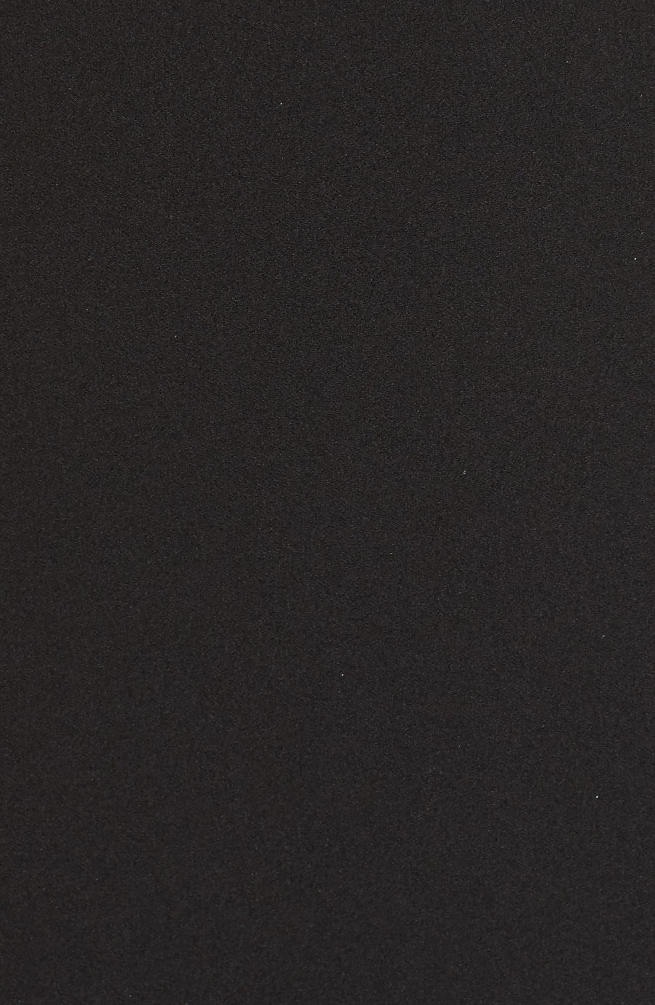 ELIZA J, Square Neck Scuba Crepe Evening Dress, Alternate thumbnail 7, color, BLACK