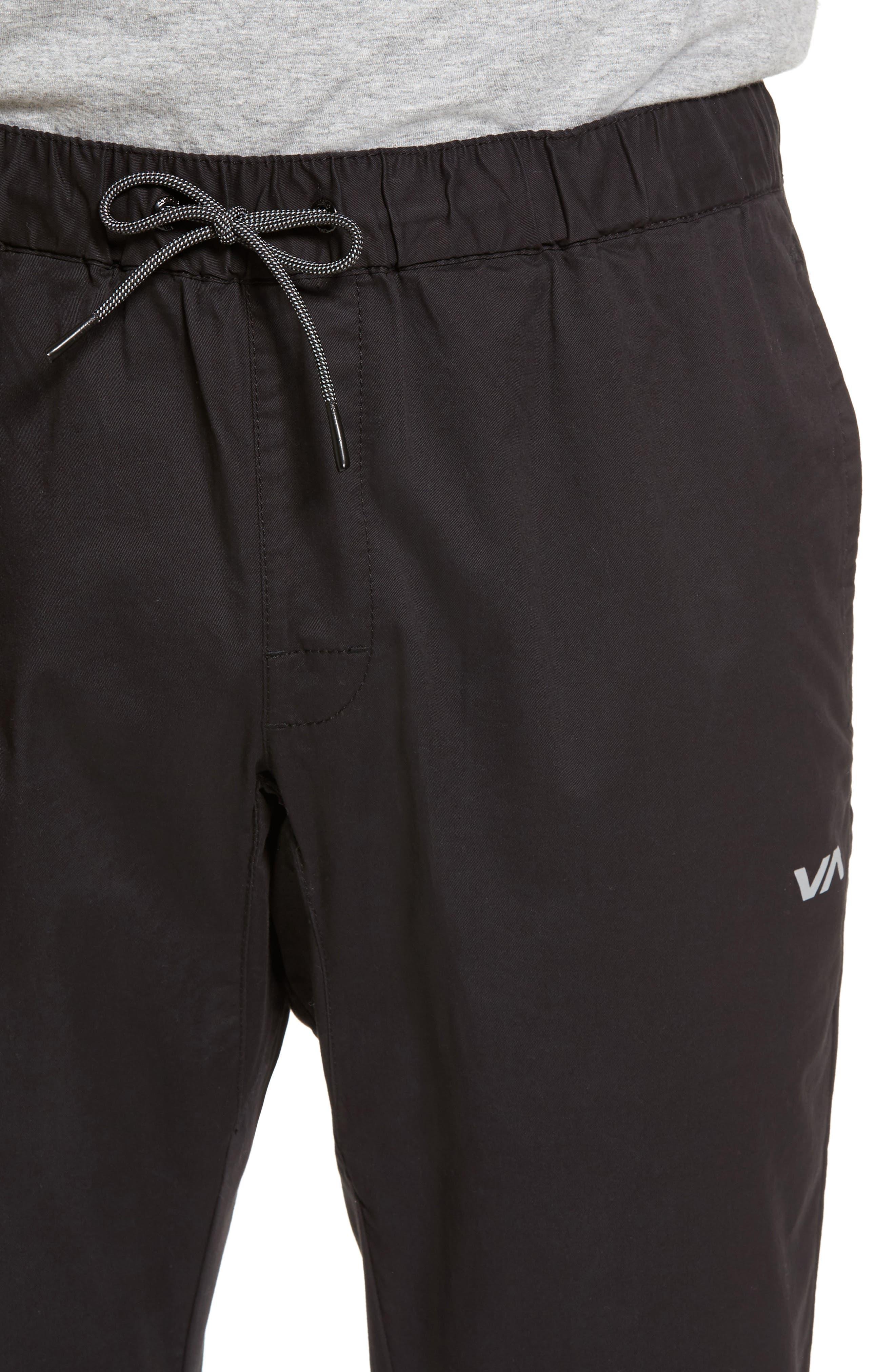 RVCA, Spectrum Sport Pants, Alternate thumbnail 5, color, 001