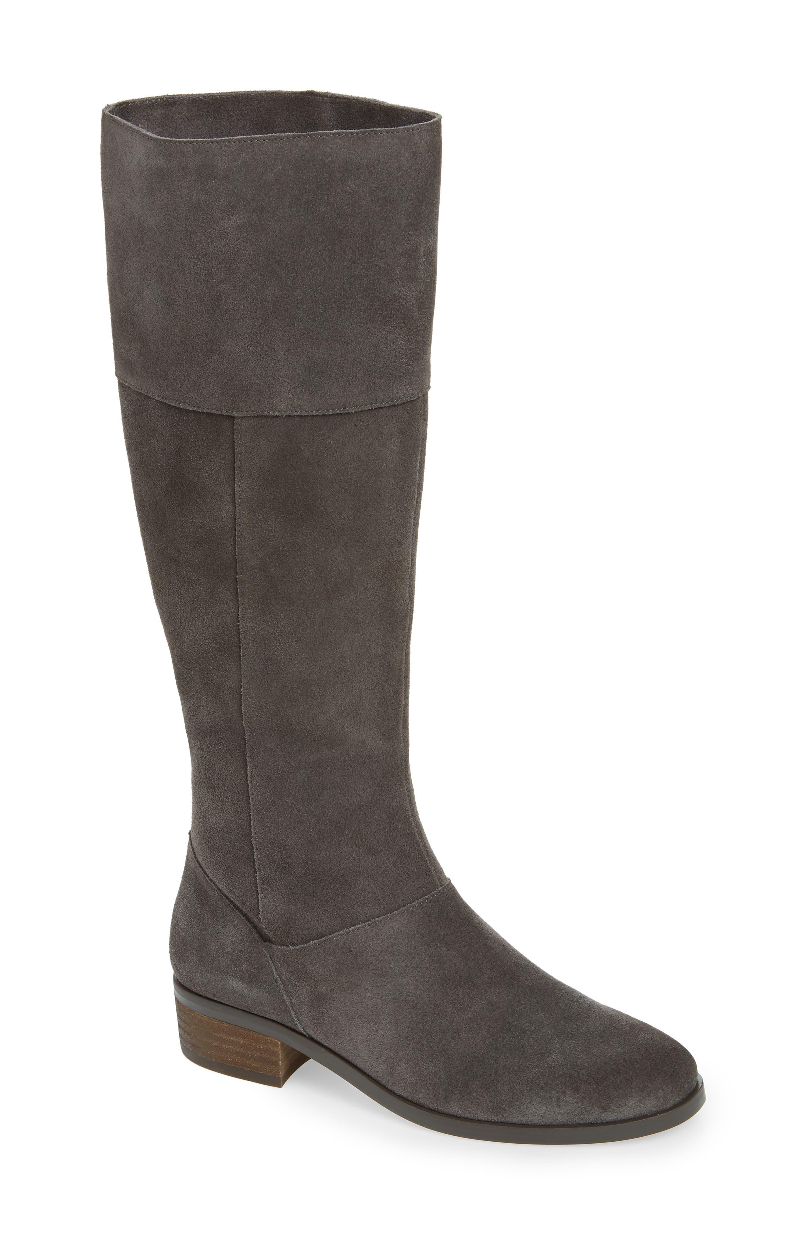 Sole Society Carlie Knee High Boot- Grey