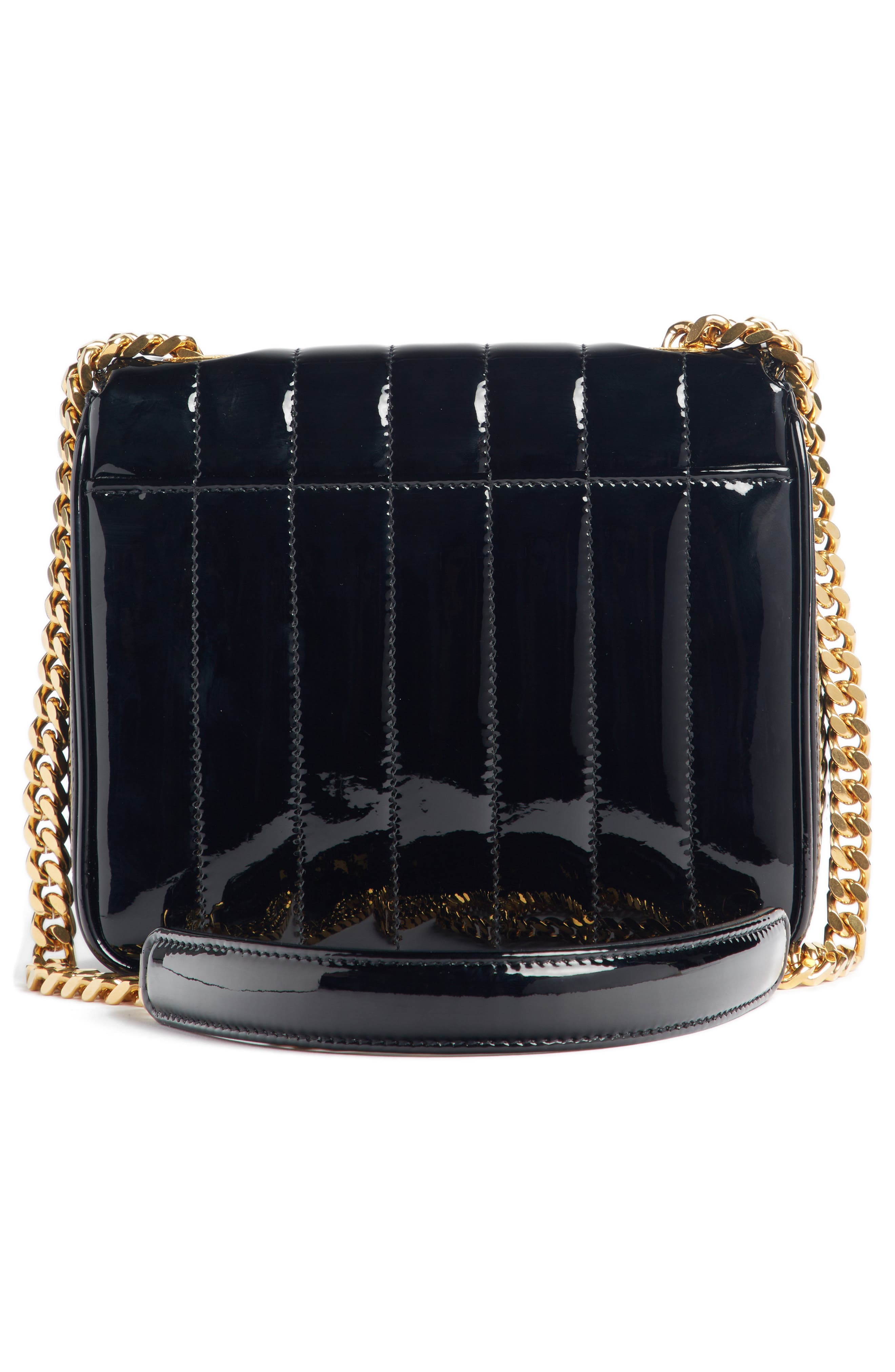 SAINT LAURENT, Small Vicky Patent Leather Crossbody Bag, Alternate thumbnail 2, color, NOIR