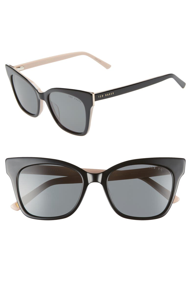 5110668476 Ted Baker London 53mm Cat Eye Sunglasses