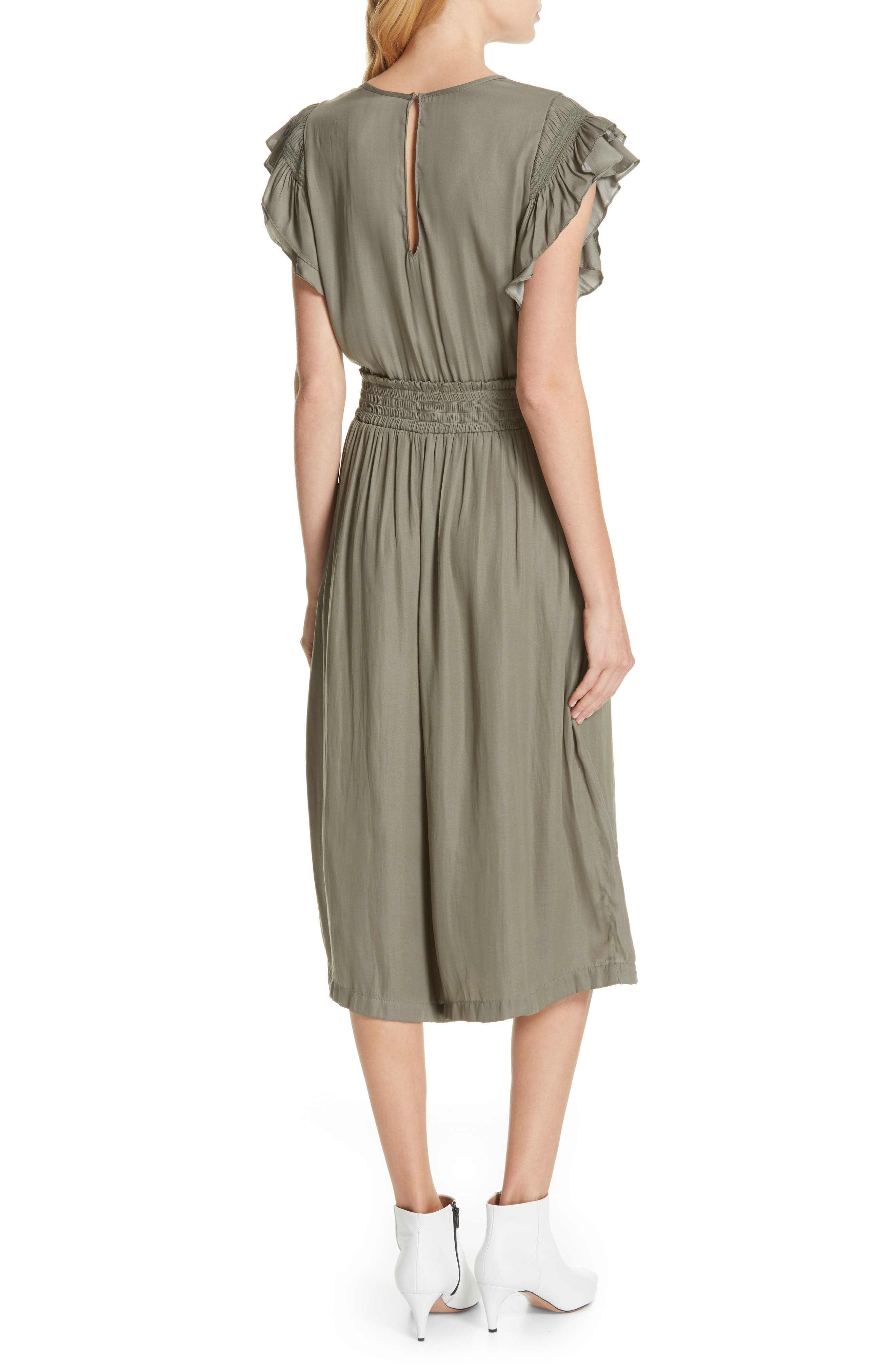 DOLAN, Carrie Pintucked Jumpsuit, Alternate thumbnail 2, color, SAGE