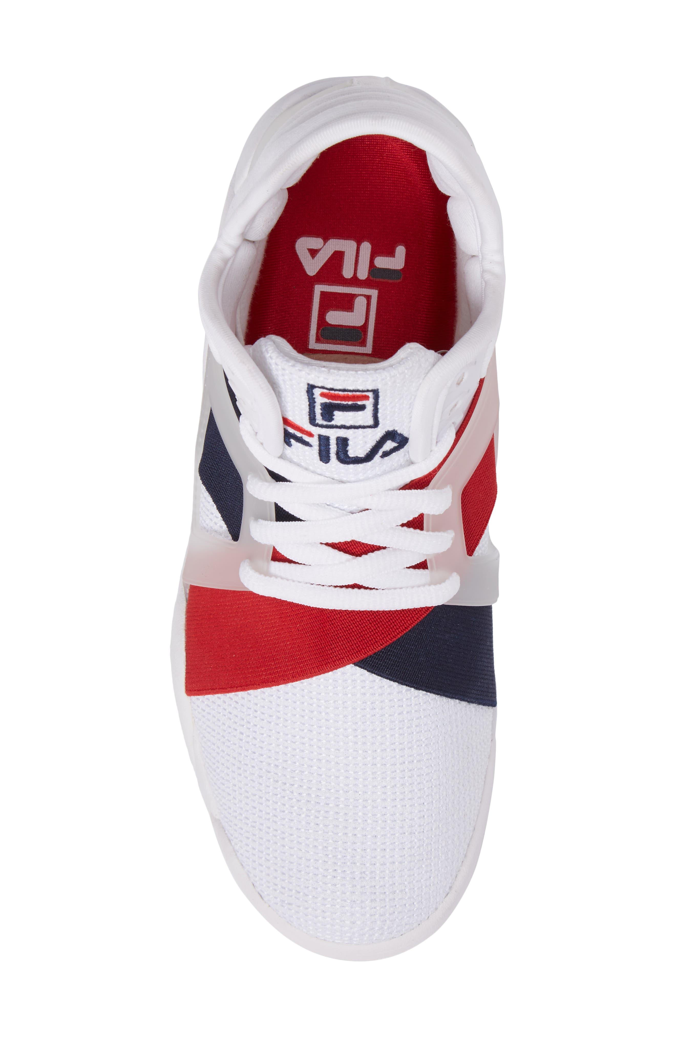 FILA, Cage 17 Logo High Top Sneaker, Alternate thumbnail 5, color, 125