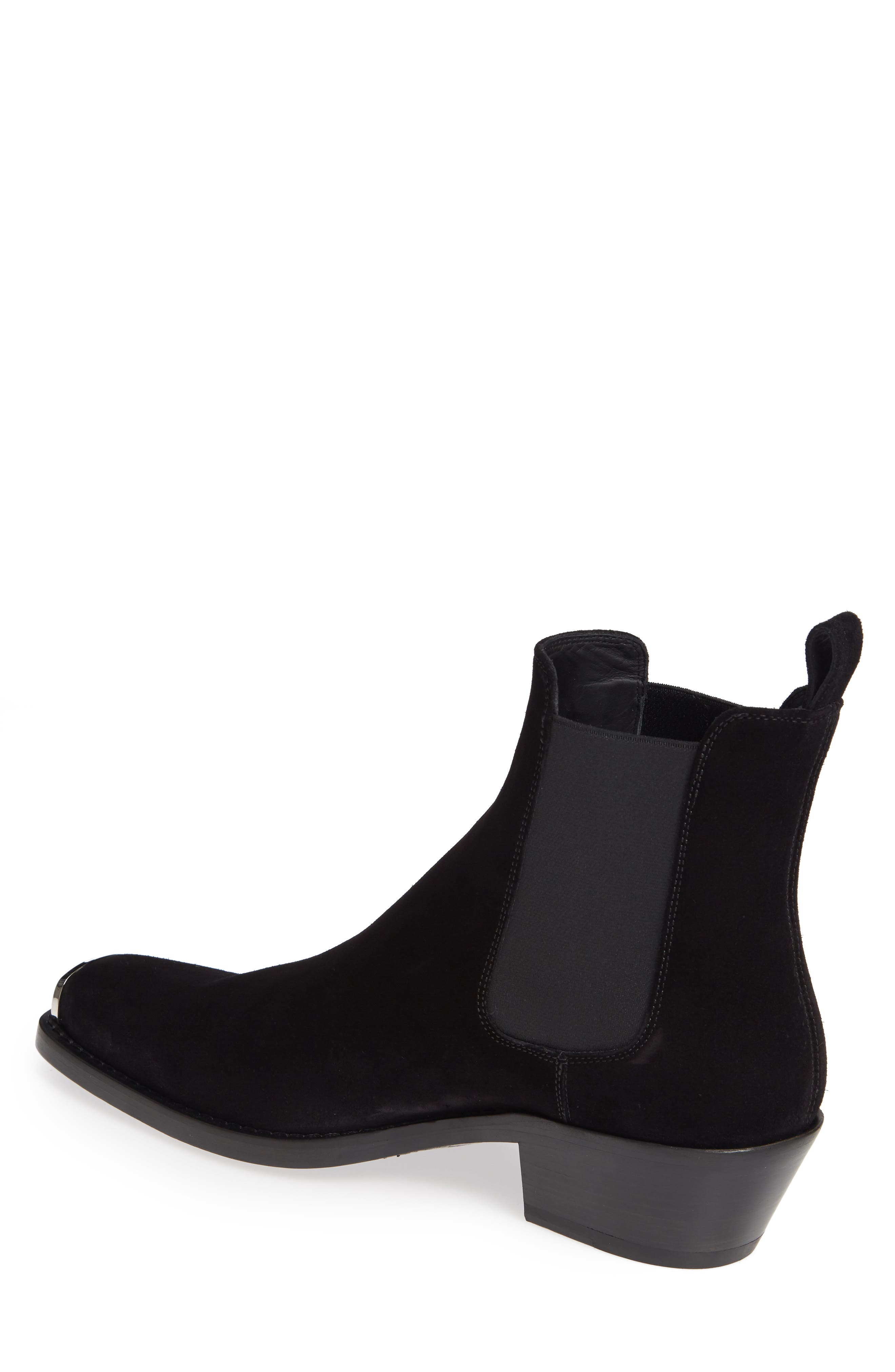 CALVIN KLEIN 205W39NYC, Chris Chelsea Boot, Alternate thumbnail 2, color, BLACK
