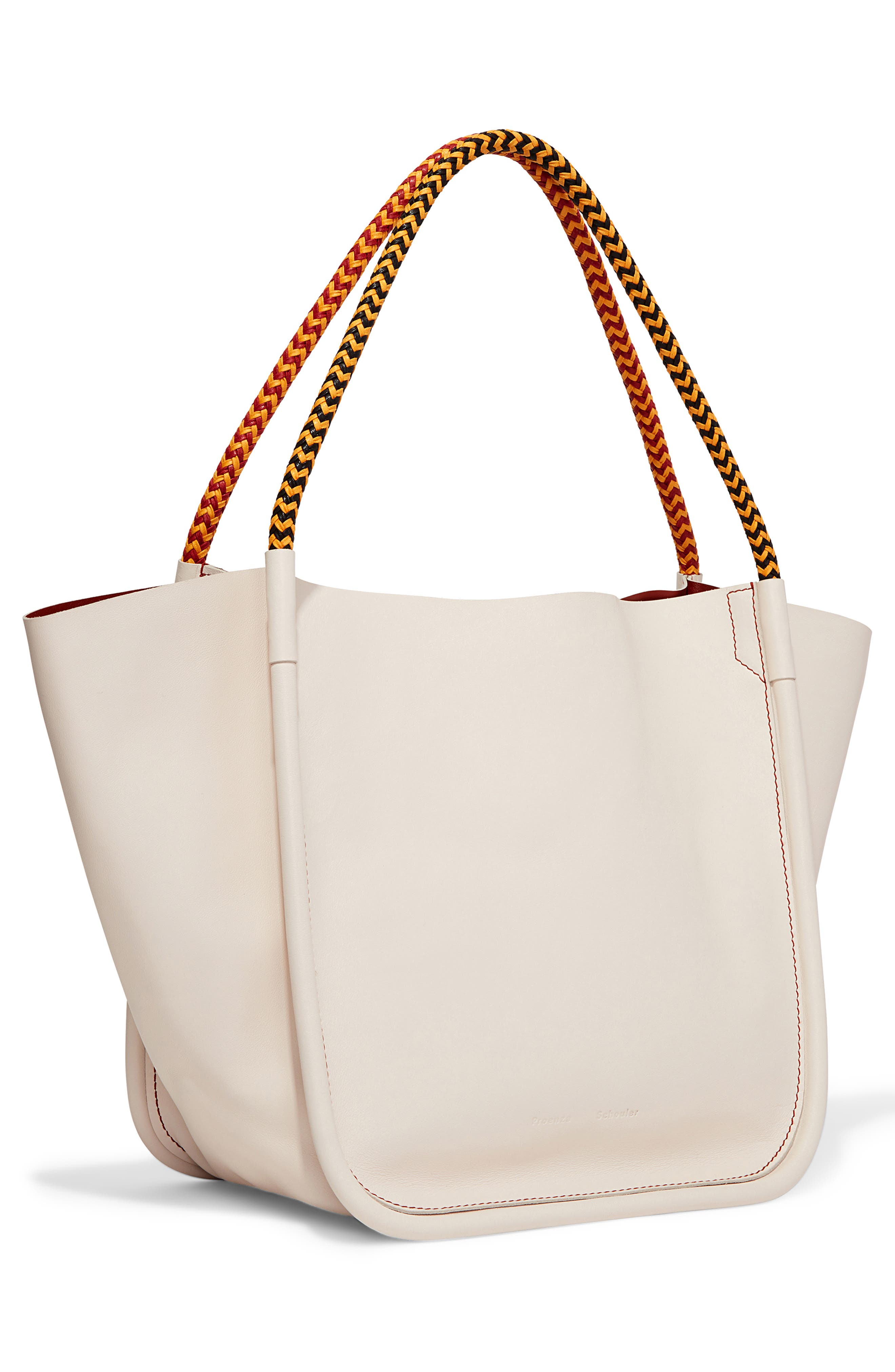 PROENZA SCHOULER, Large Calfskin Leather Tote, Alternate thumbnail 5, color, CLAY