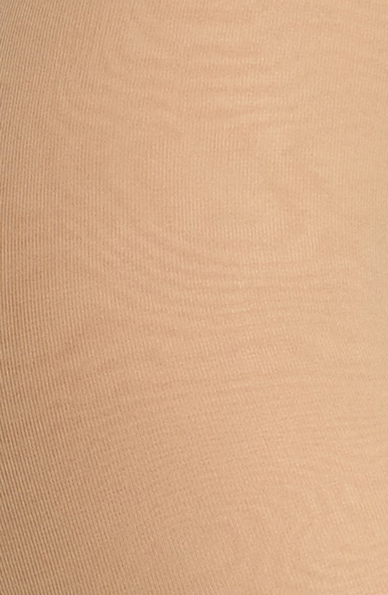 DKNY, Light Opaque Control Top Tights, Alternate thumbnail 3, color, CARAMEL