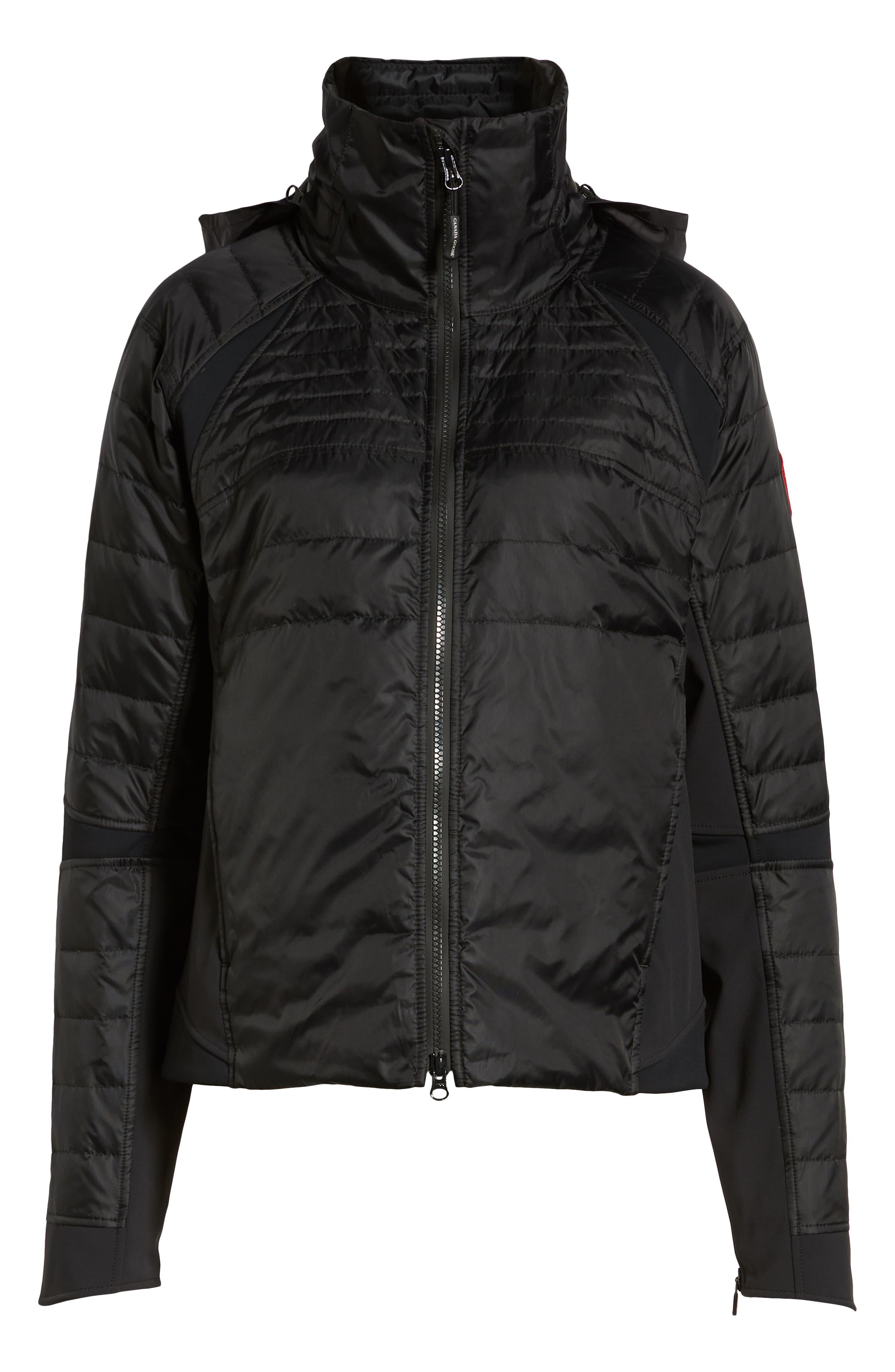 CANADA GOOSE, Hybridge Perren Jacket, Alternate thumbnail 2, color, BLACK