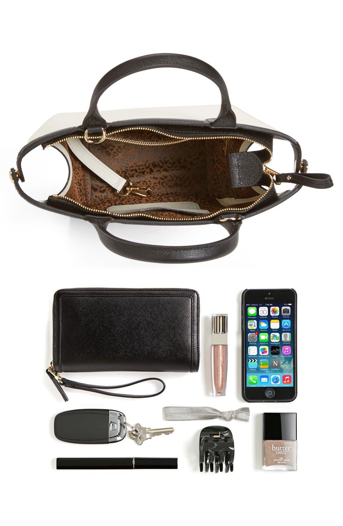 LONGCHAMP, 'Small Le Pliage - Heritage' Leather Handbag, Alternate thumbnail 5, color, 100