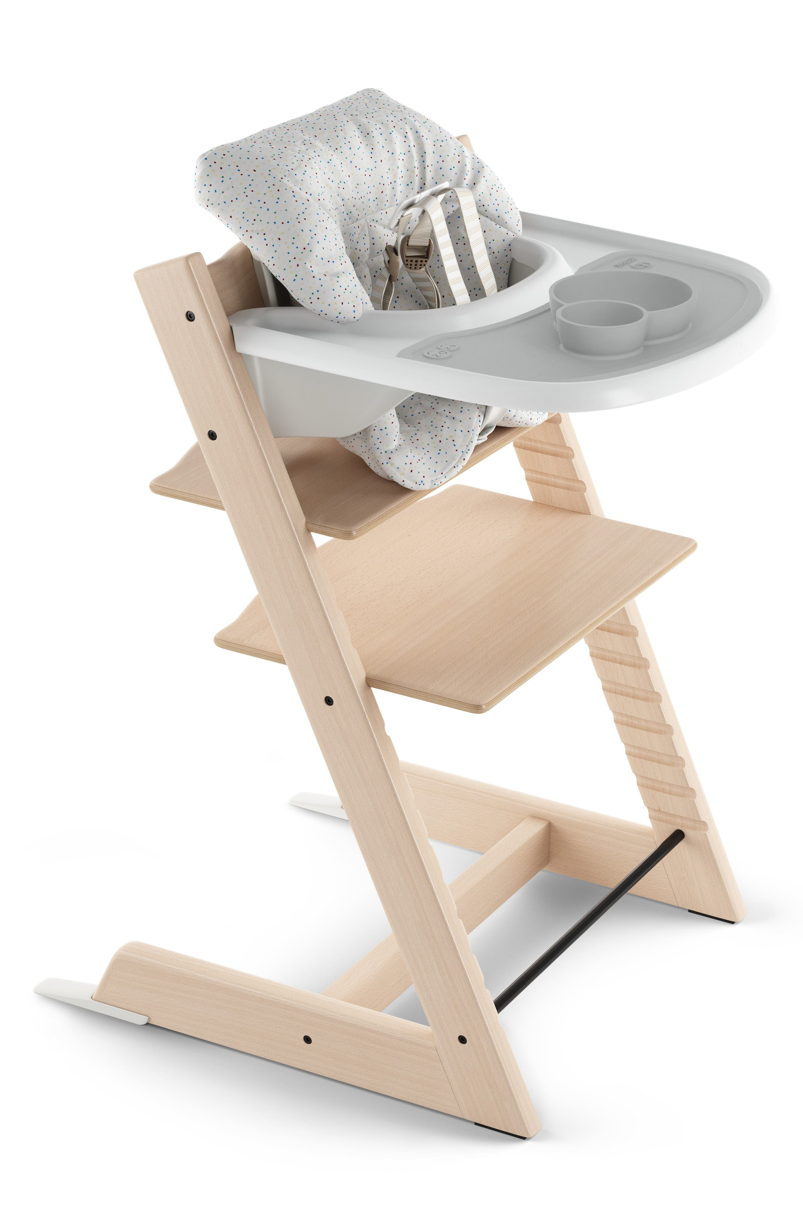 STOKKE, x ezpz Silicone Placemat for Tripp Trapp<sup>®</sup> High Chair, Alternate thumbnail 2, color, GREY