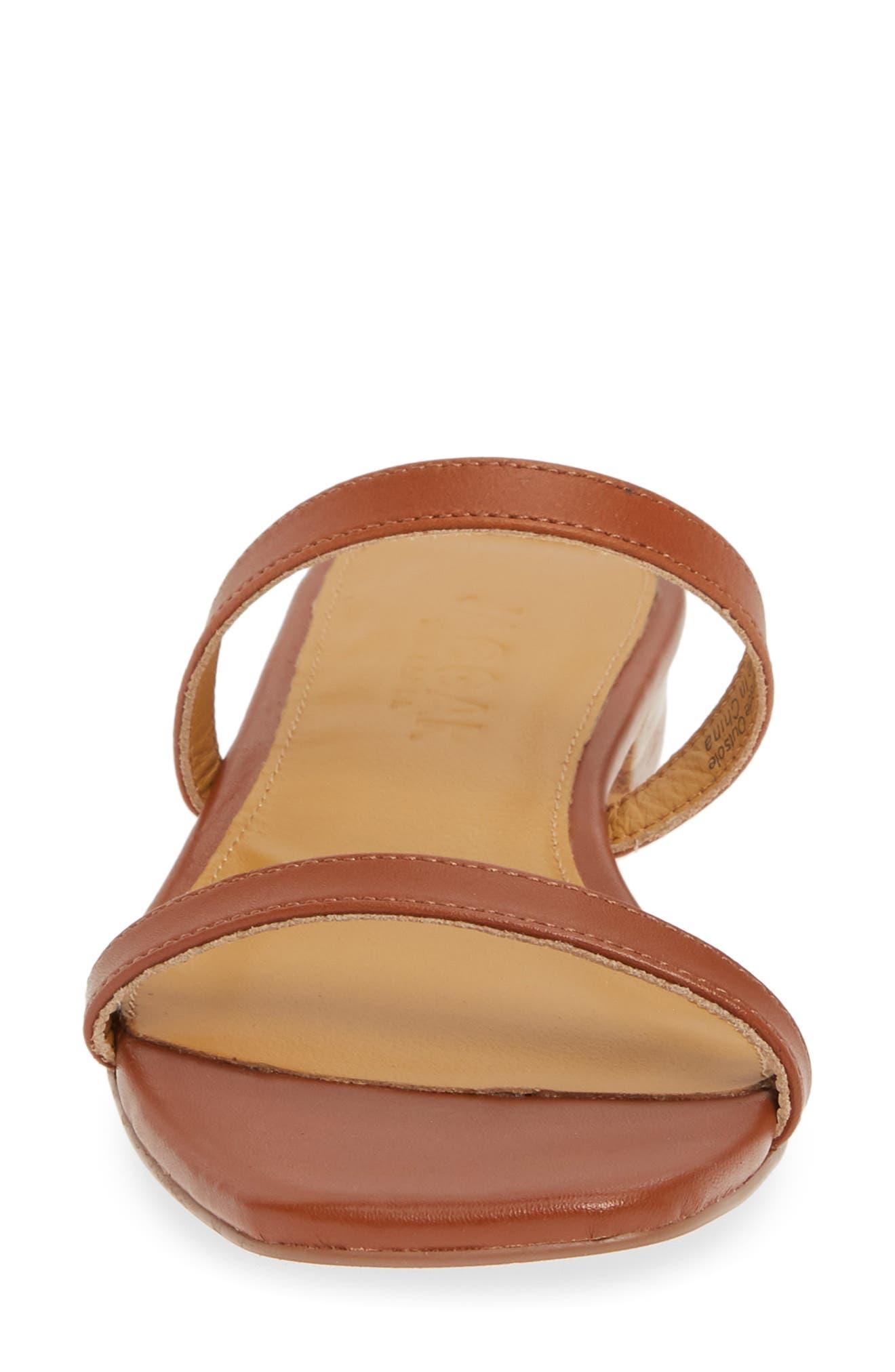JAGGAR, Sprung Slide Sandal, Alternate thumbnail 4, color, RUST LEATHER