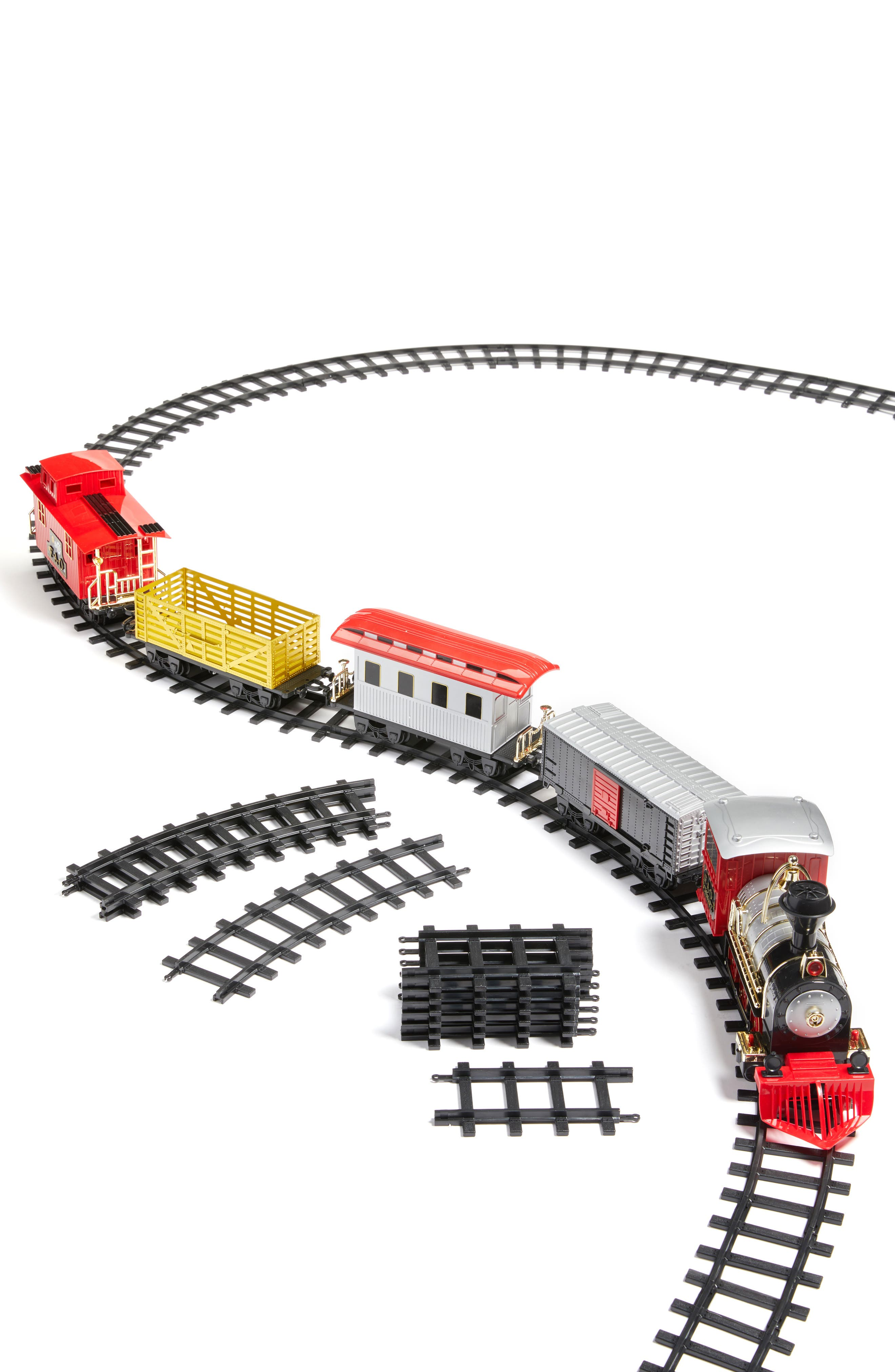 FAO SCHWARZ, 75-Piece Train Set, Alternate thumbnail 2, color, 600