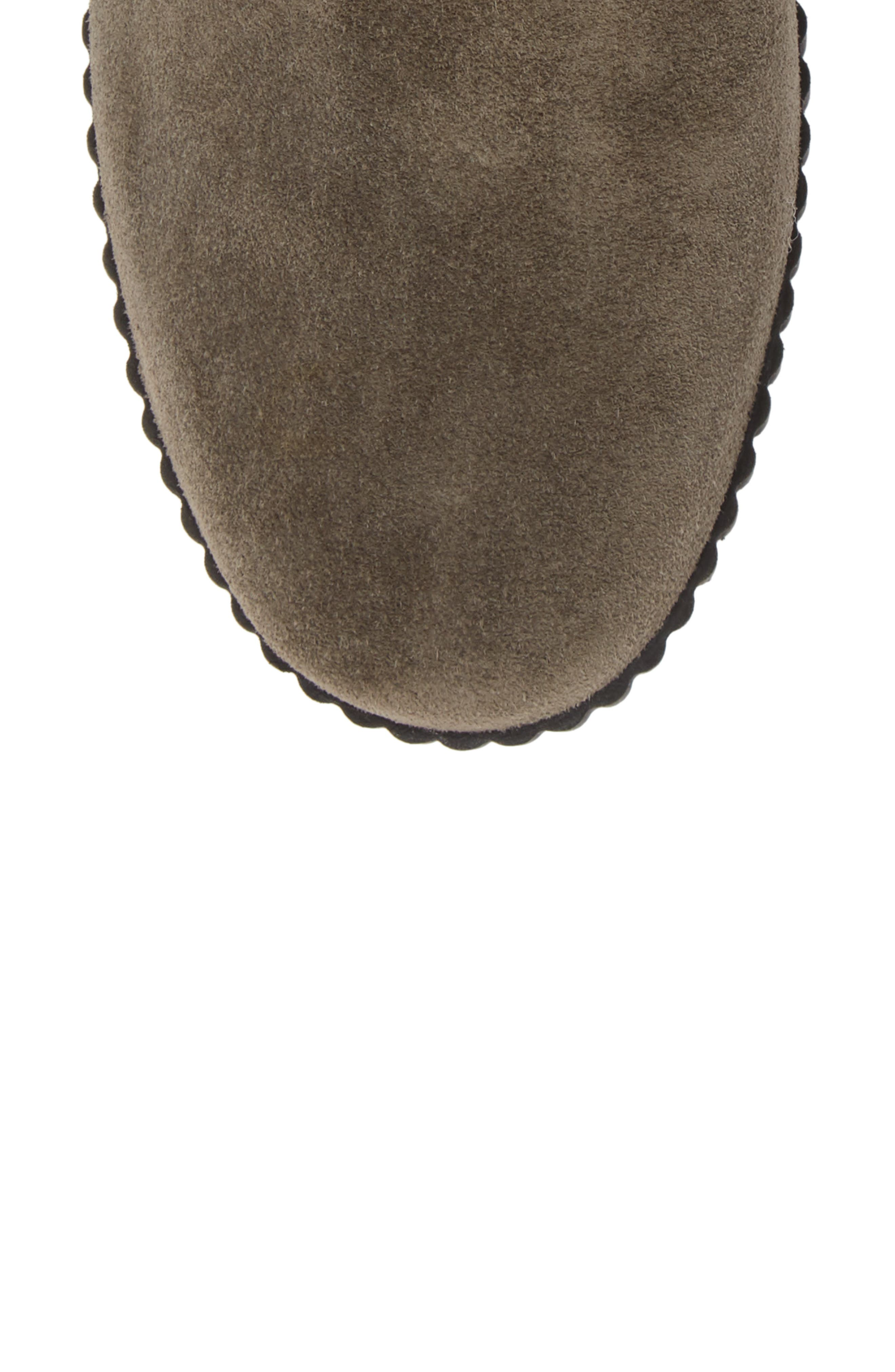 THE FLEXX, Easy Does It Wedge Bootie, Alternate thumbnail 5, color, BROWN SUEDE