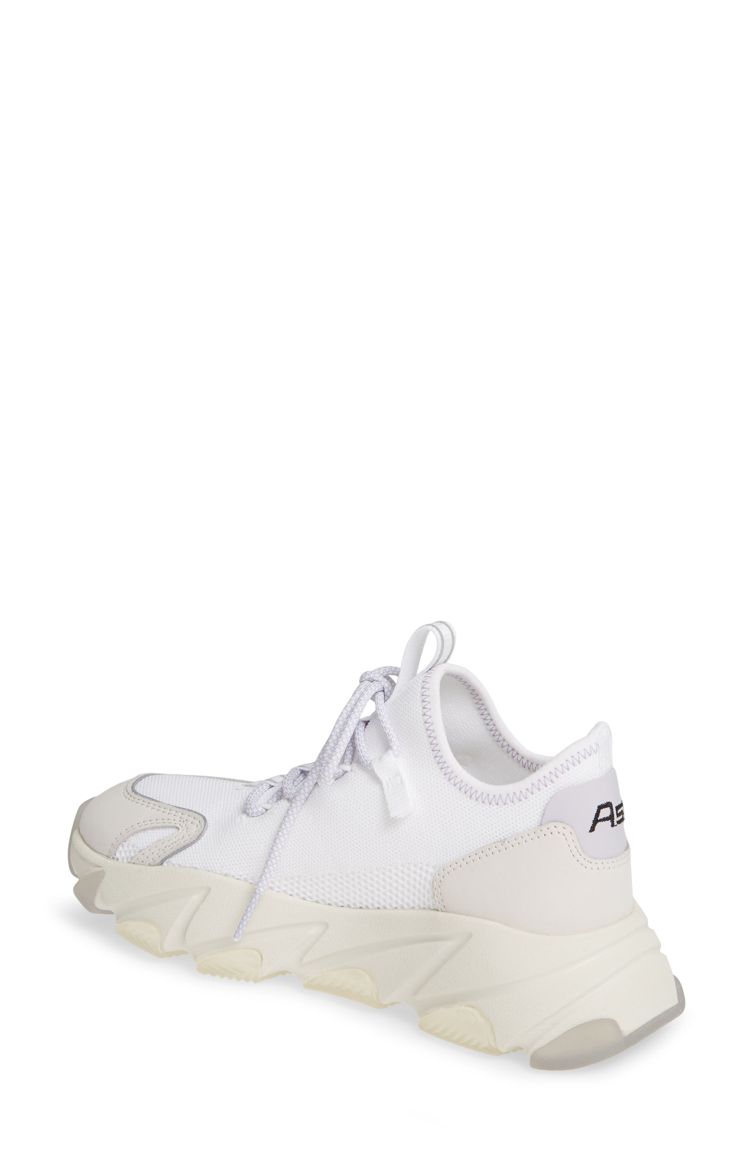 ASH, Excape Sneaker, Alternate thumbnail 2, color, WHITE/ SILVER/ LAVENDER FABRIC