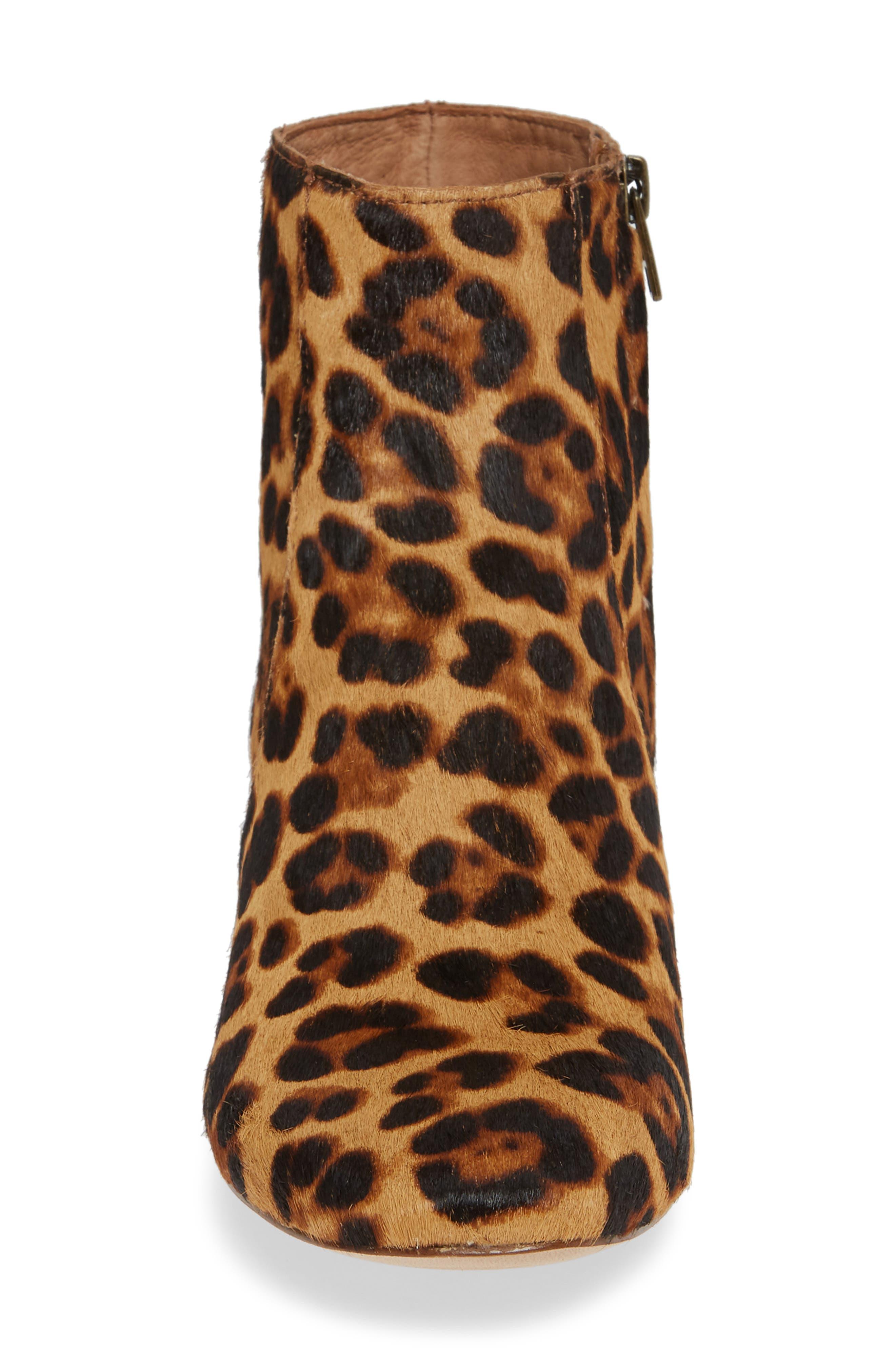 MADEWELL, The Jada Genuine Calf Hair Boot, Alternate thumbnail 4, color, 200