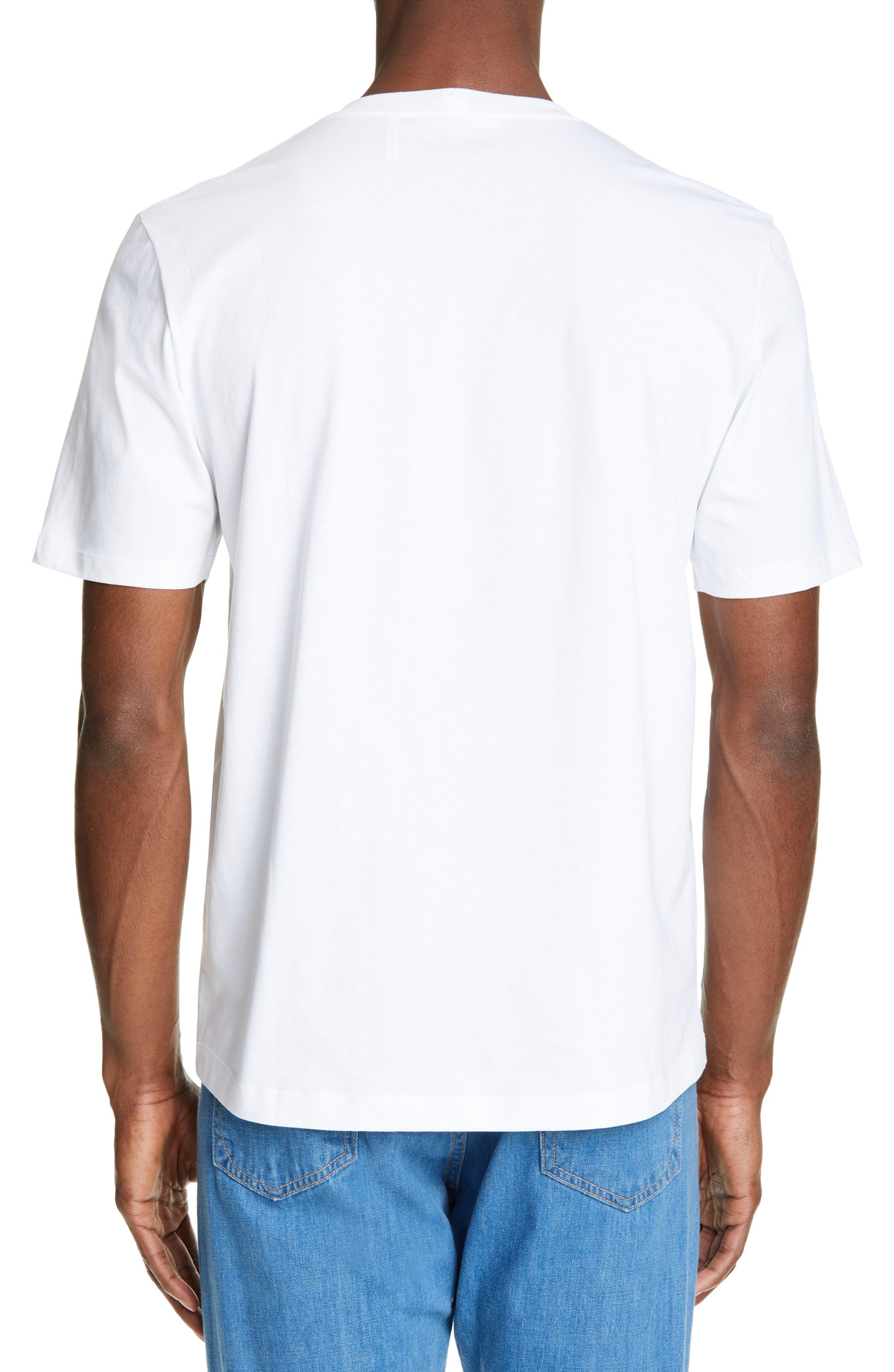 HELMUT LANG, World Turns Graphic T-Shirt, Alternate thumbnail 2, color, CHALK WHITE