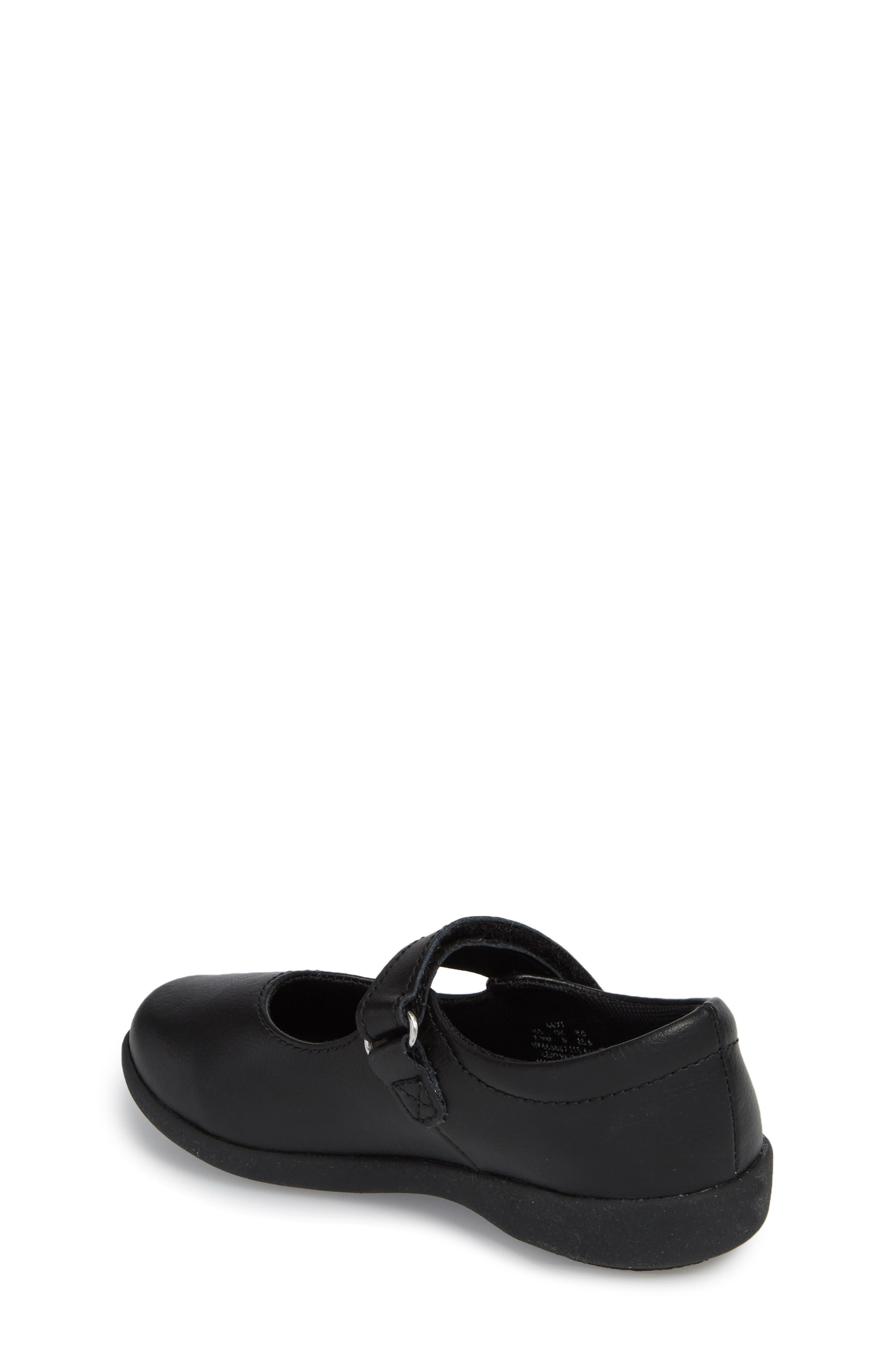 HUSH PUPPIES<SUP>®</SUP>, Lexi Mary Jane Flat, Alternate thumbnail 2, color, BLACK LEATHER