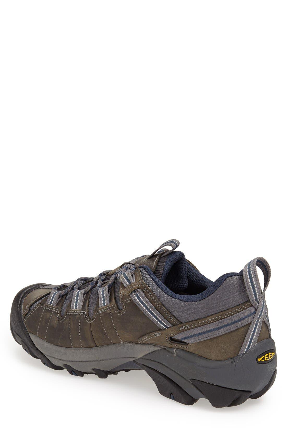 KEEN, 'Targhee II' Waterproof Hiking Shoe, Alternate thumbnail 4, color, GARGOLYE/ MIDNGHT NAVY