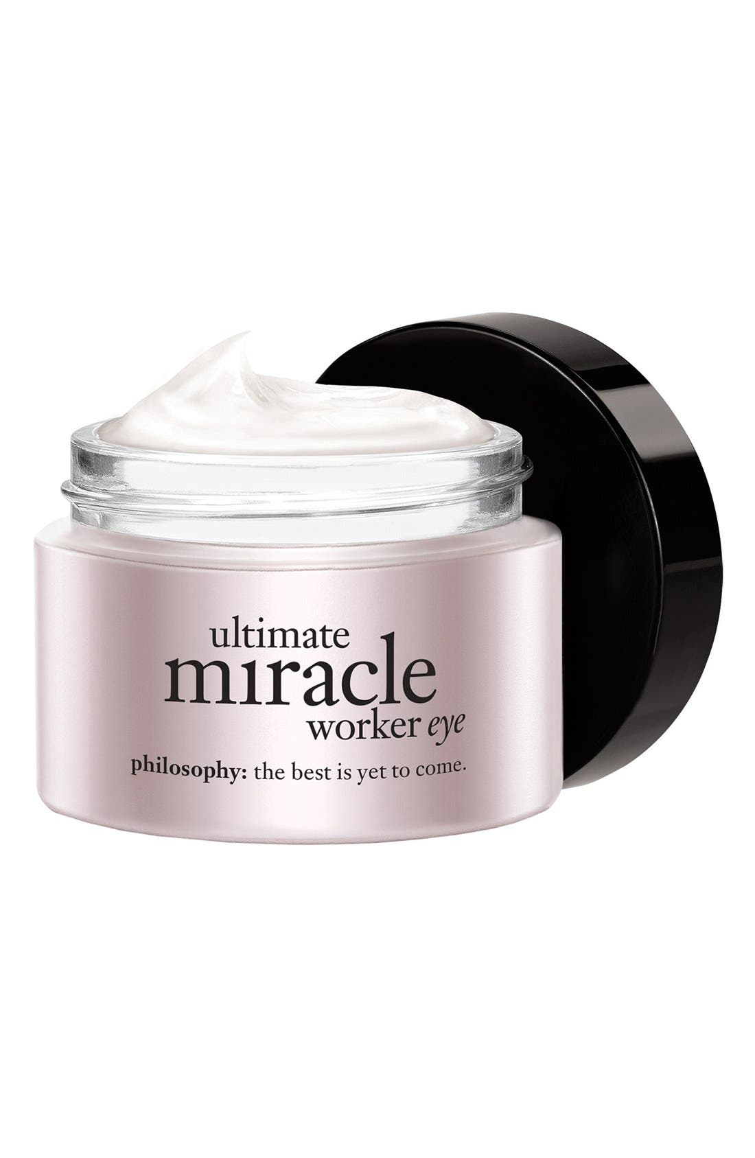 PHILOSOPHY, 'ultimate miracle worker eye' multi-rejuvenating eye cream broad spectrum SPF 15, Alternate thumbnail 2, color, NO COLOR