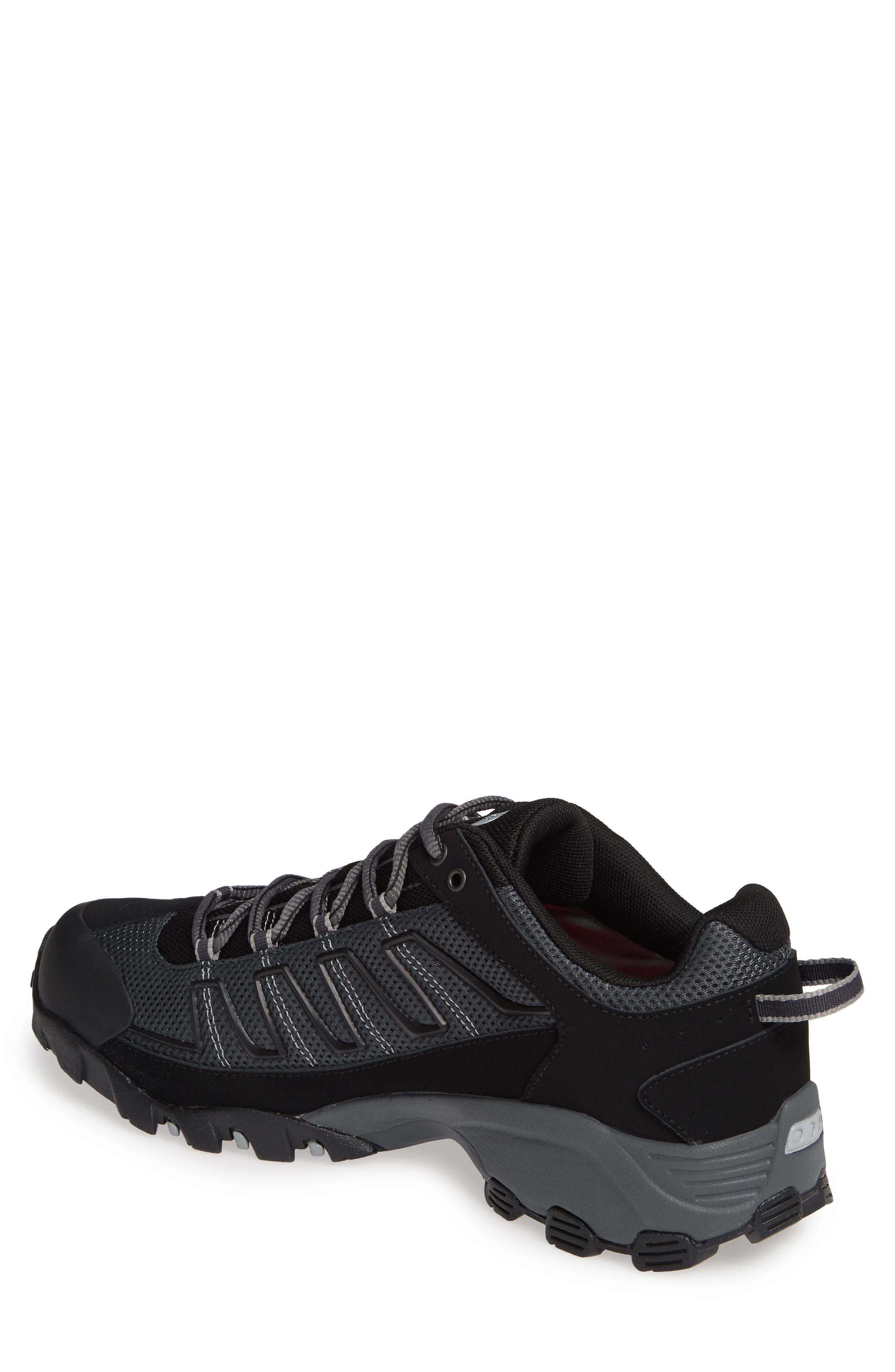 THE NORTH FACE, 'Ultra 109 GTX' Waterproof Running Shoe, Alternate thumbnail 2, color, BLACK/ GREY