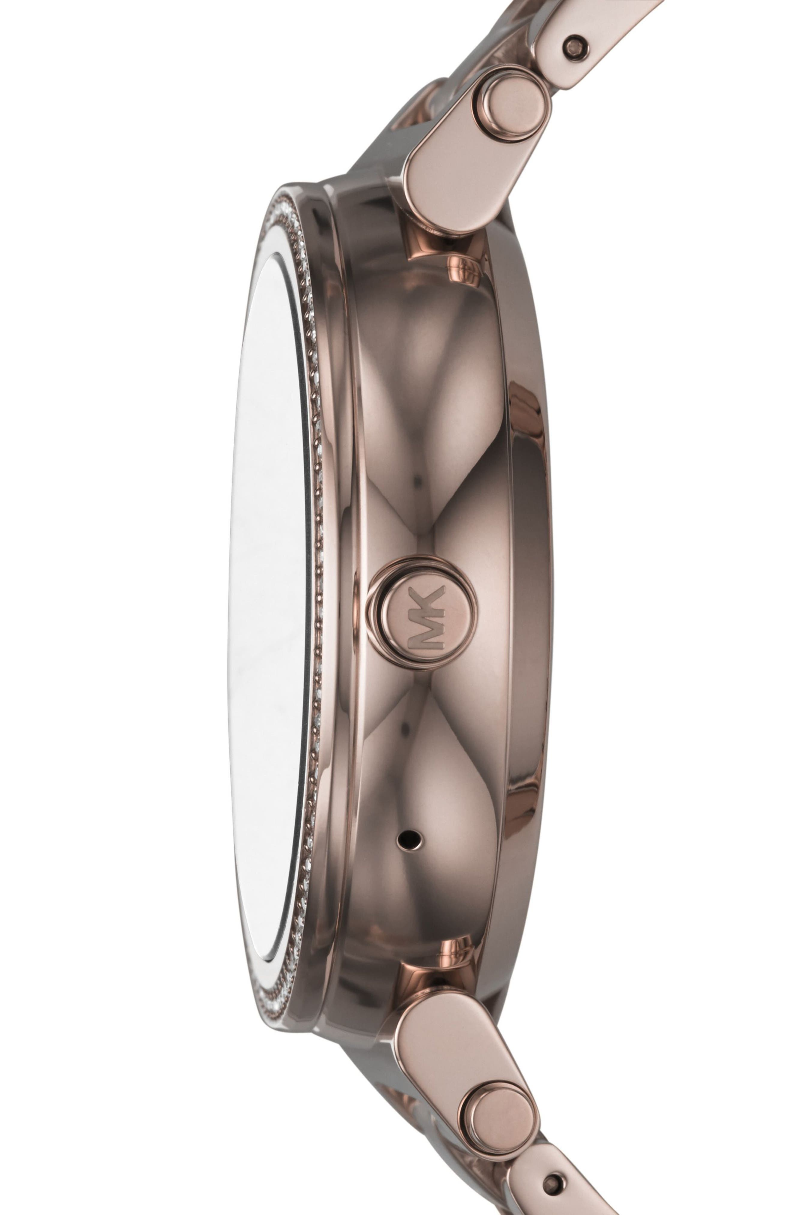 MICHAEL KORS ACCESS, Sofie Smart Bracelet Watch, 42mm, Alternate thumbnail 3, color, SABLE