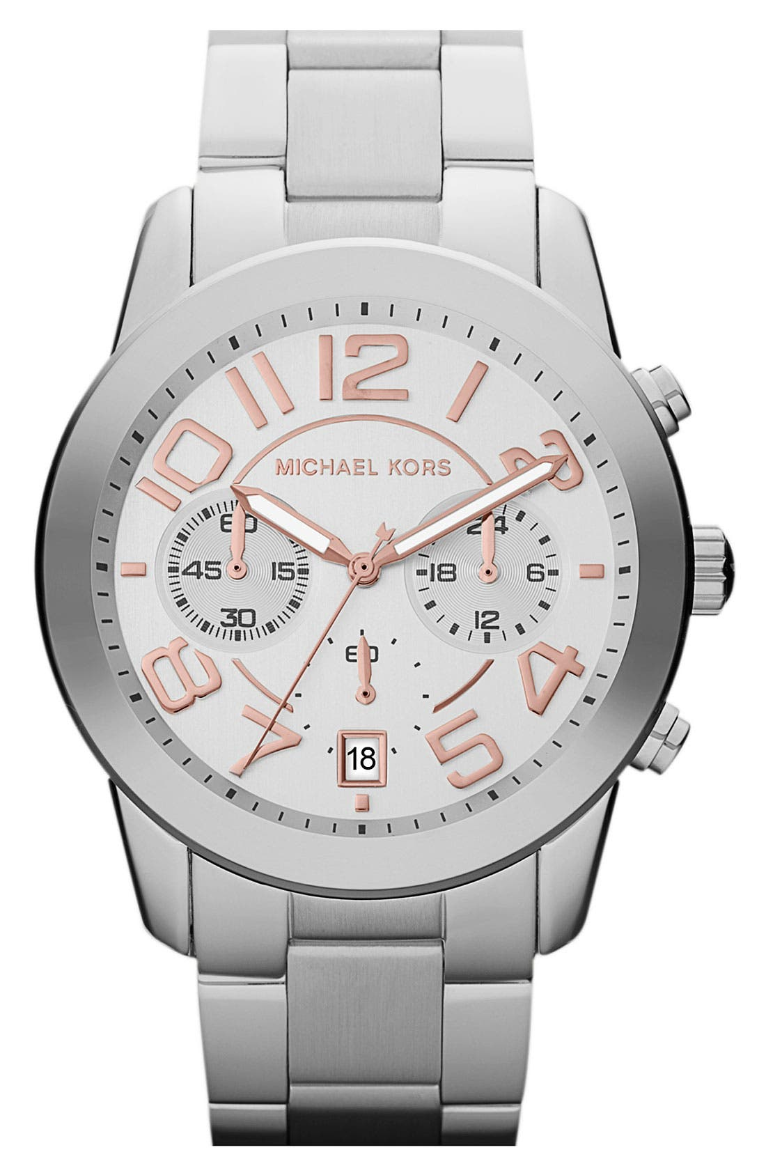 MICHAEL MICHAEL KORS, Michael Kors 'Mercer' Chronograph Bracelet Watch, 41mm, Main thumbnail 1, color, 040