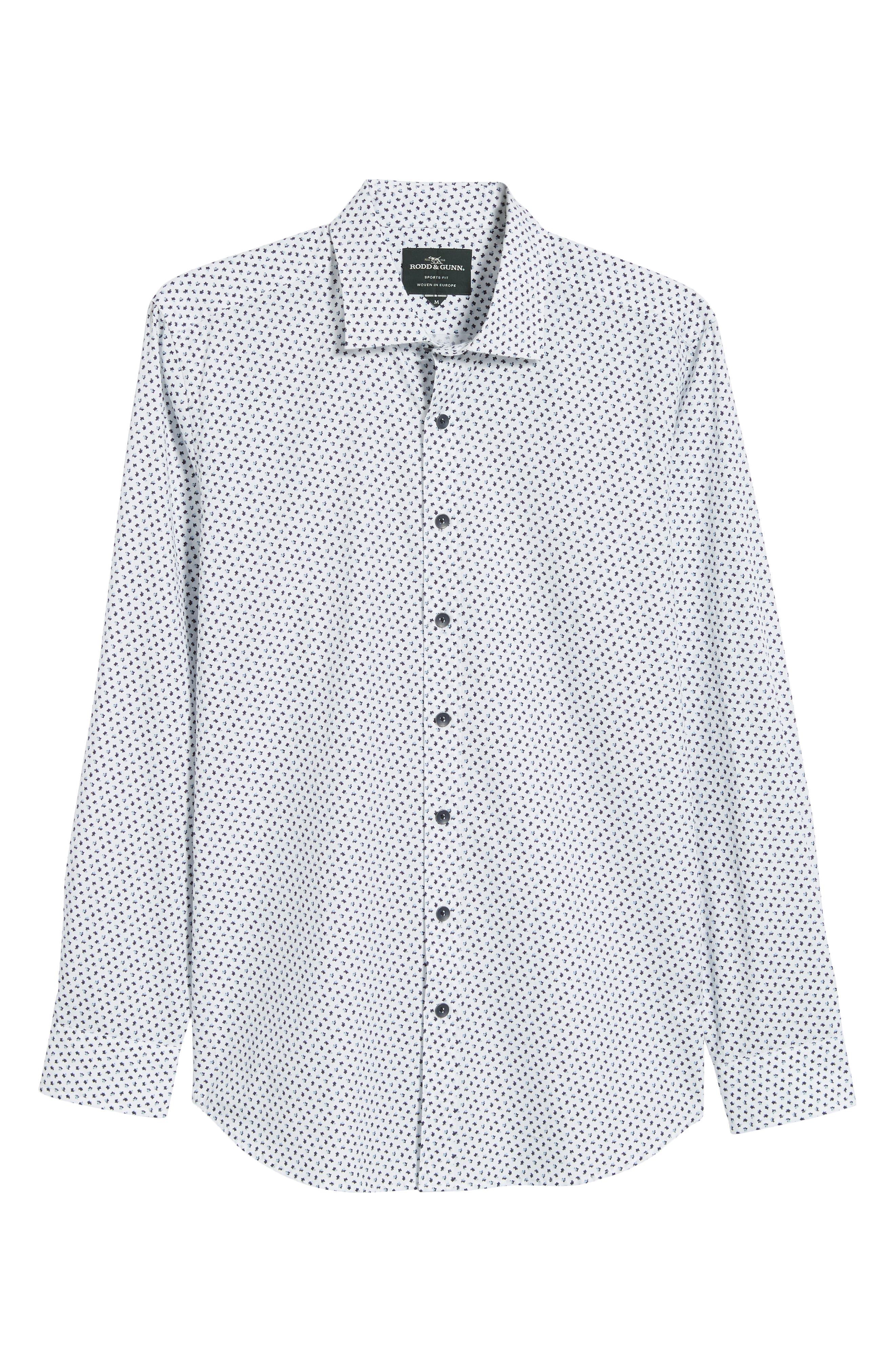 RODD & GUNN, Northcross Sport Shirt, Alternate thumbnail 5, color, IVORY