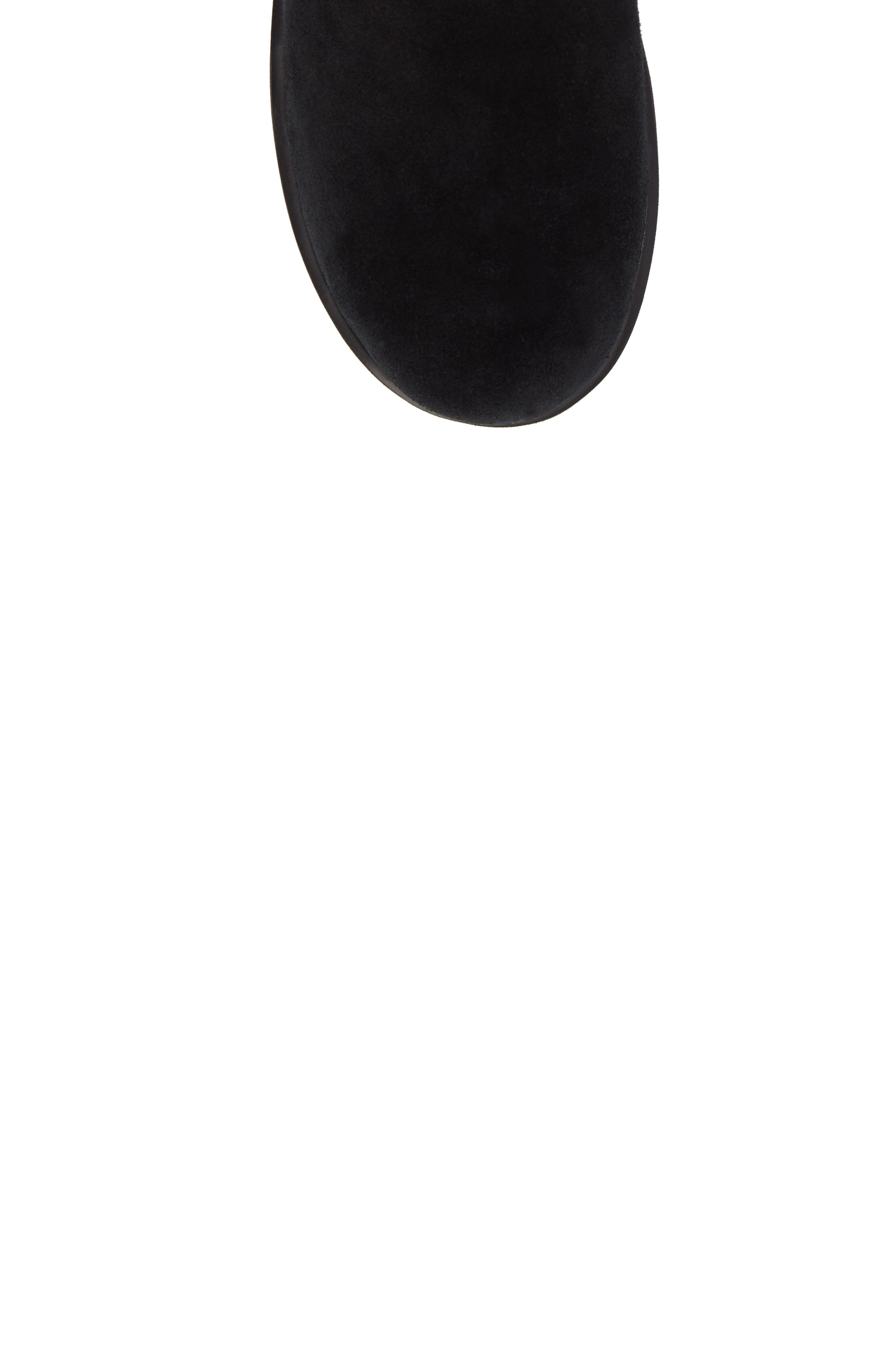 UGG<SUP>®</SUP>, Classic Short Waterproof Boot, Alternate thumbnail 5, color, BLACK SUEDE