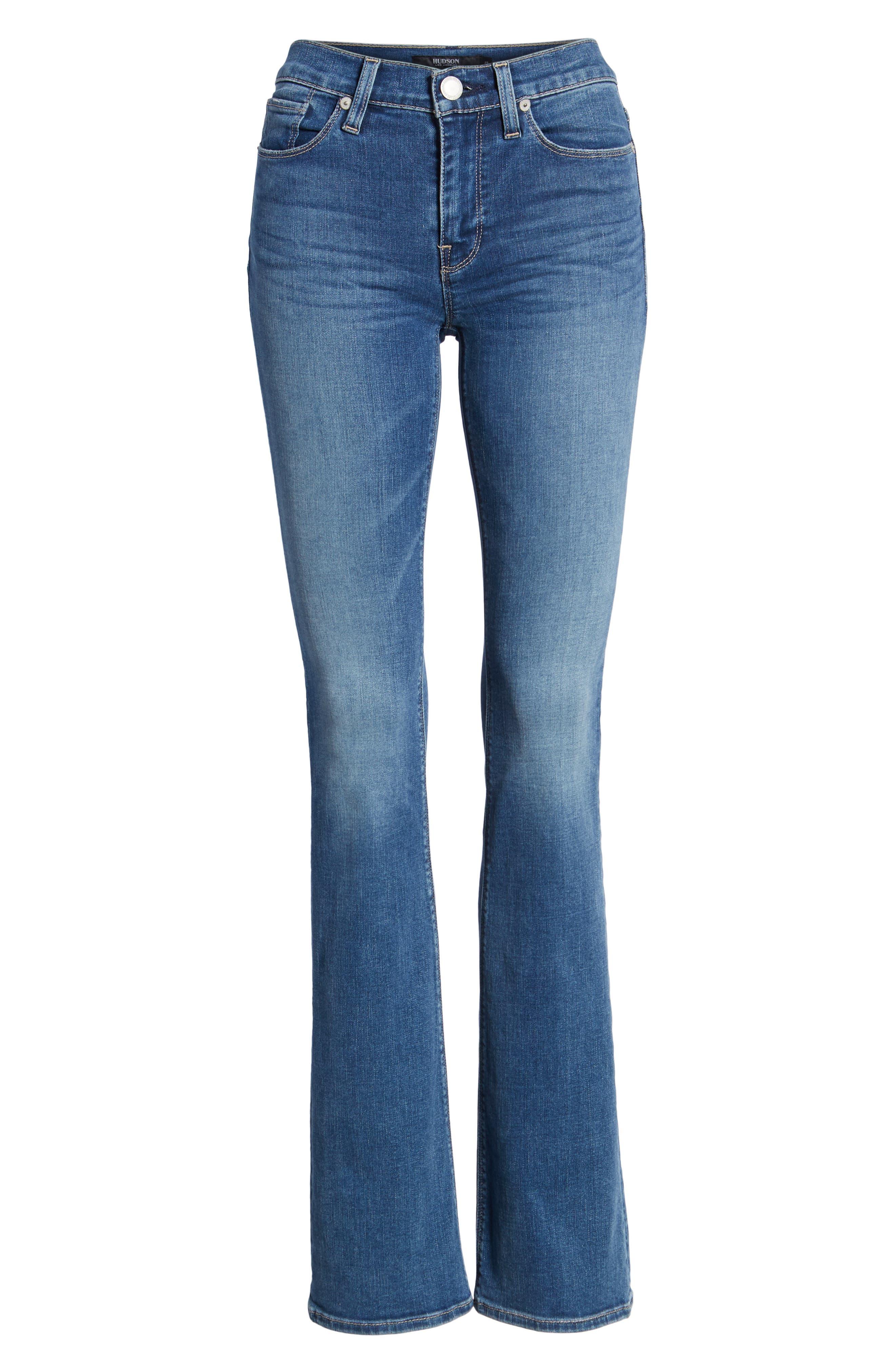 HUDSON JEANS, Drew Bootcut Jeans, Alternate thumbnail 7, color, AYON