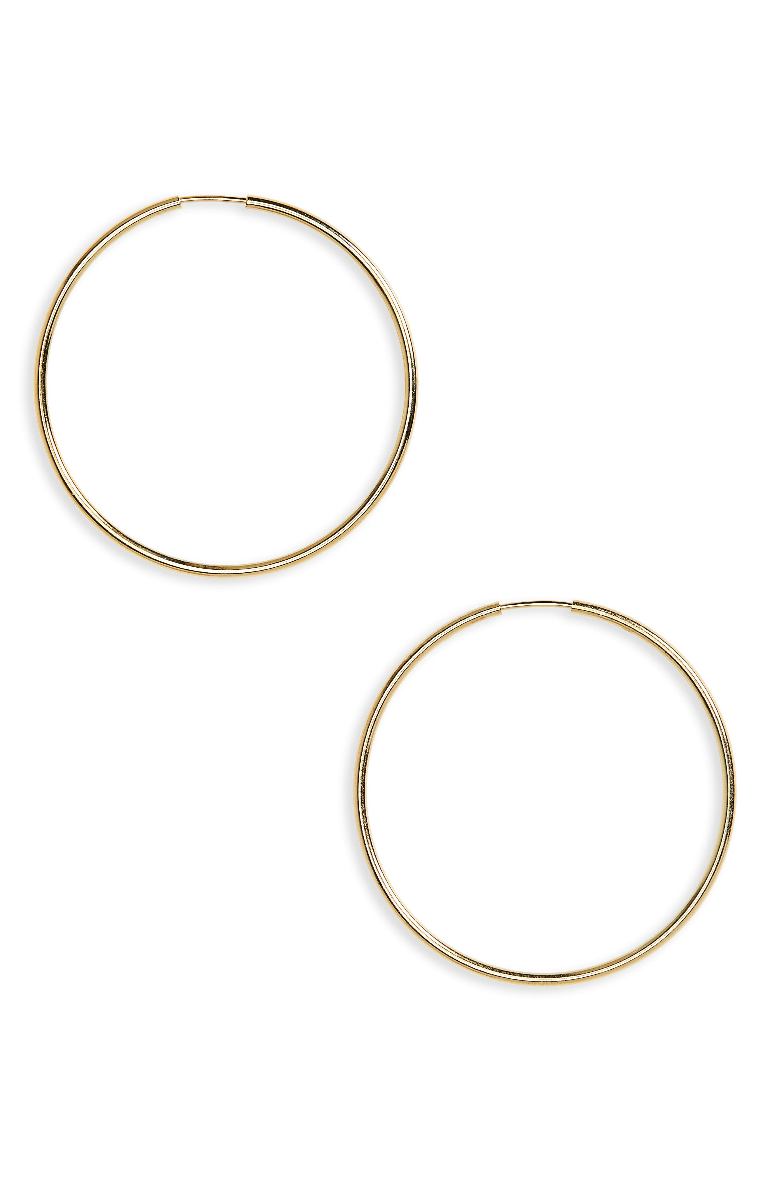 ARGENTO VIVO Endless Hoops, Main, color, GOLD