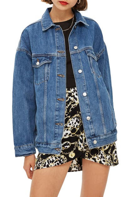 Topshop Jackets OVERSIZED DENIM JACKET