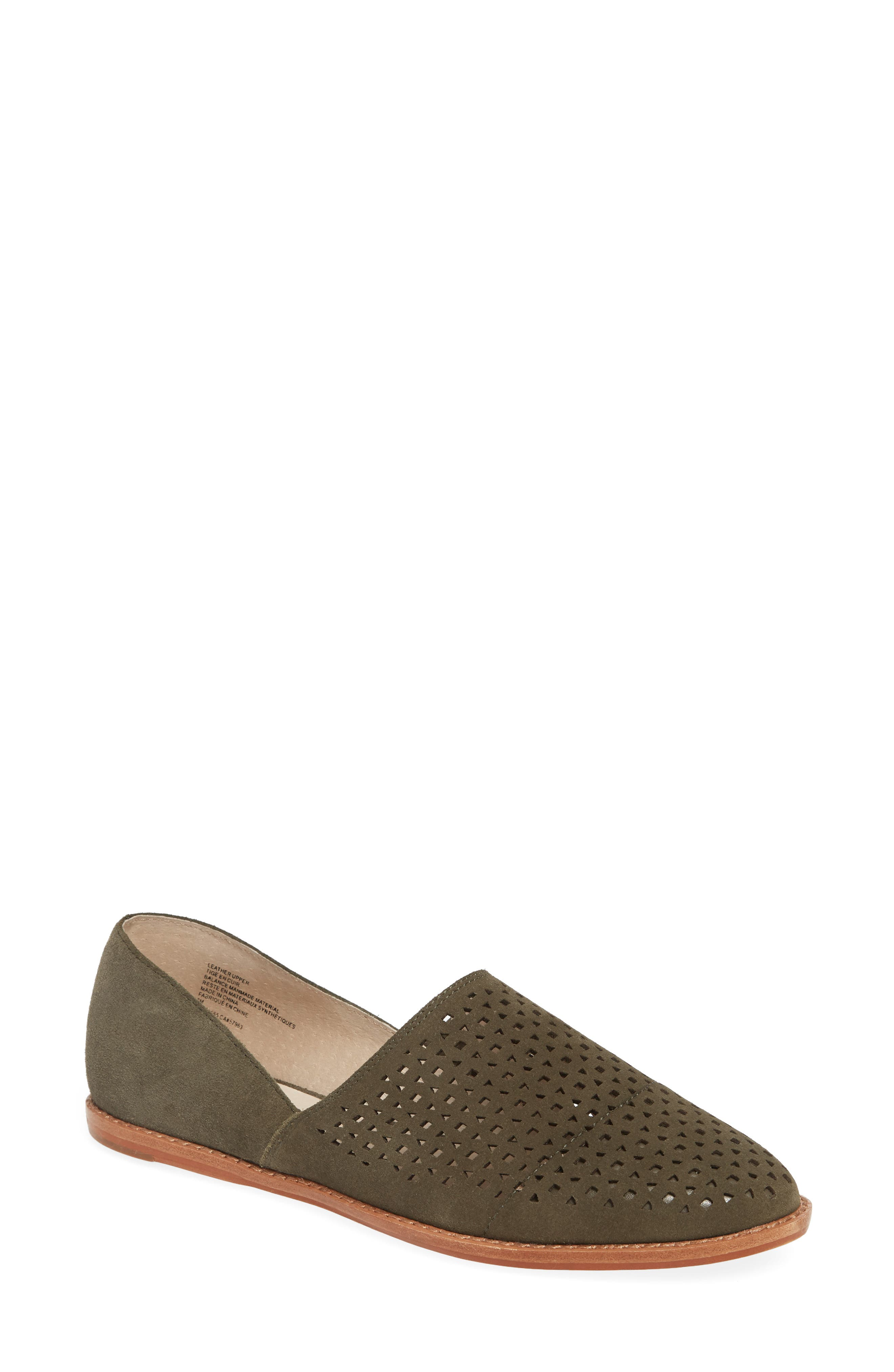 Caslon Adrian Perforated Flat, Green