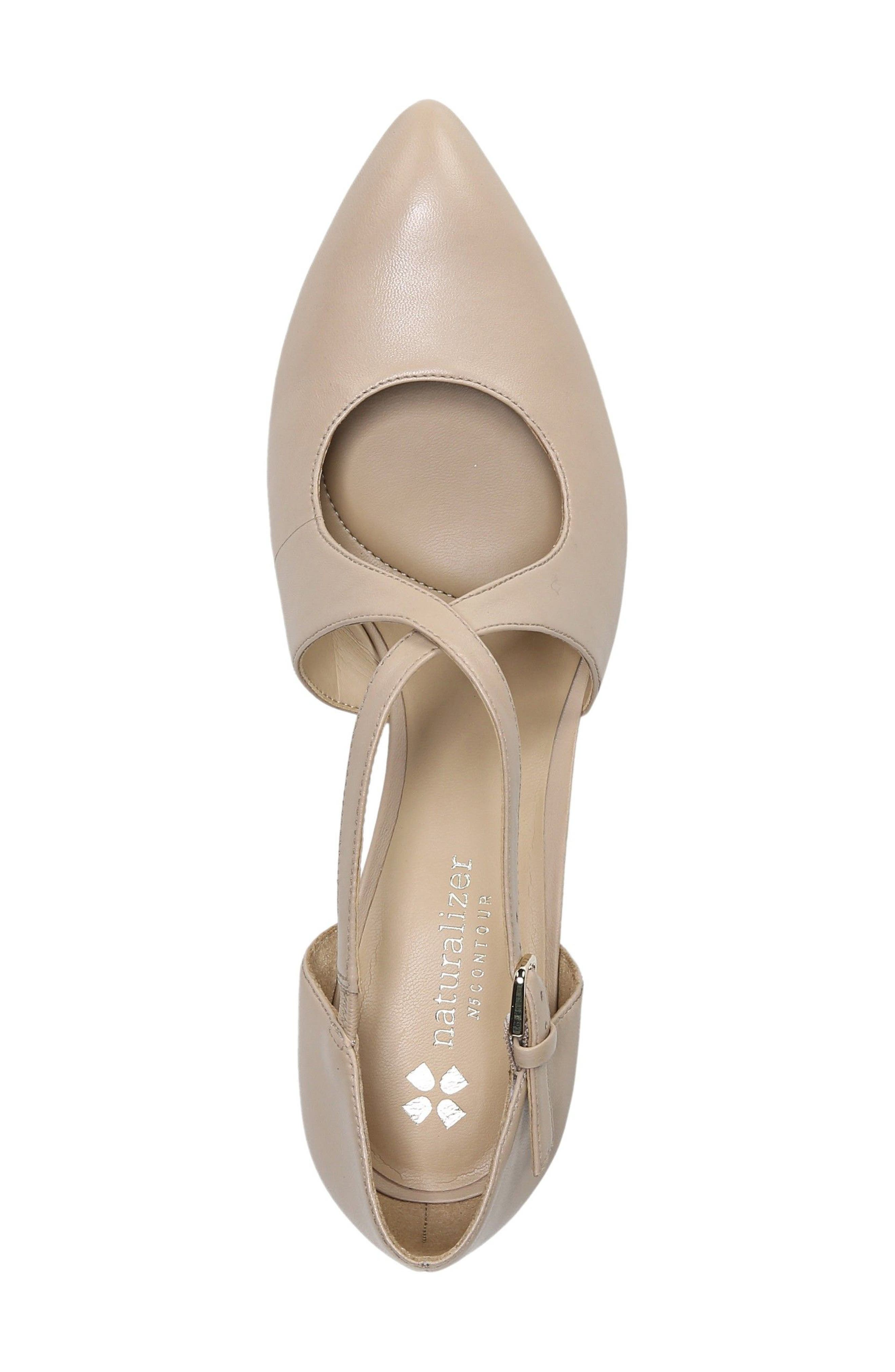 NATURALIZER, Okira Crisscross Pump, Alternate thumbnail 3, color, TAUPE LEATHER
