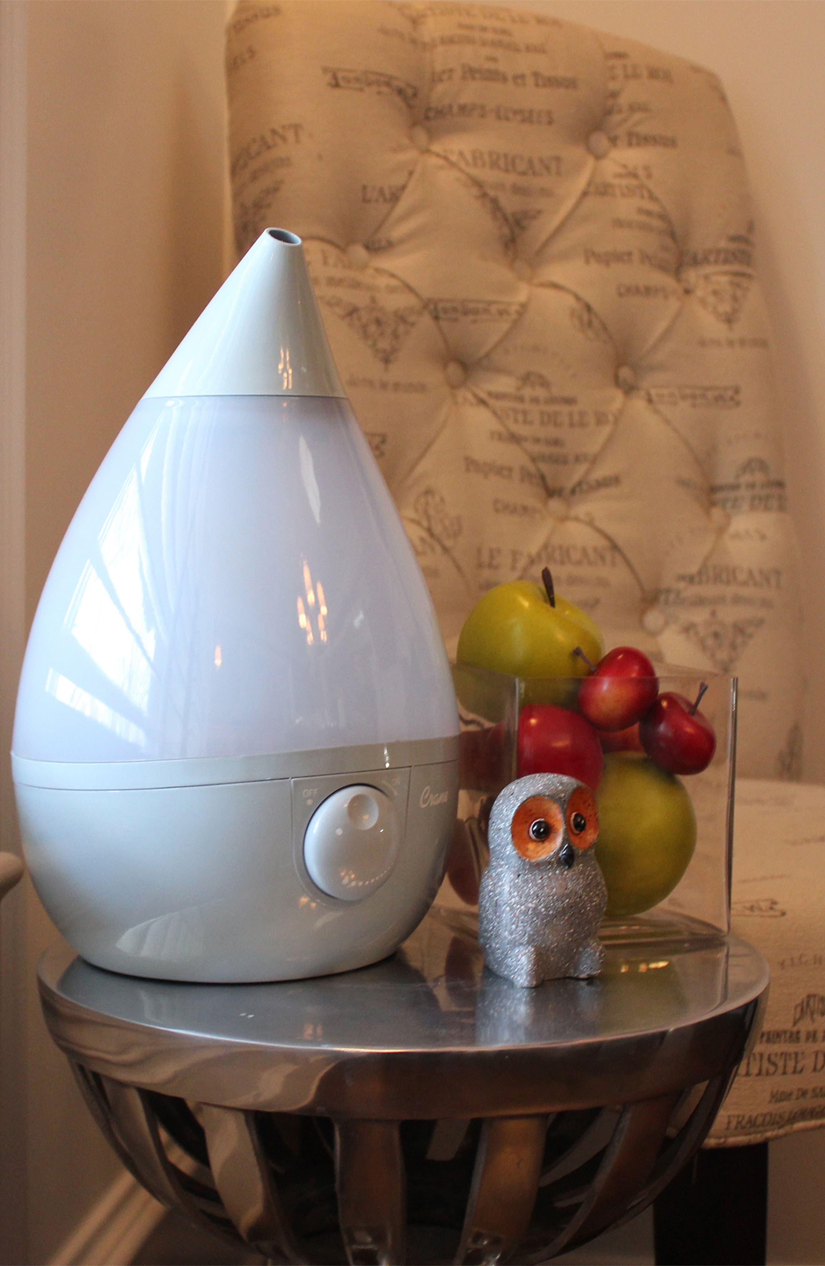 CRANE AIR, 'Droplet' Humidifier, Alternate thumbnail 7, color, GREY