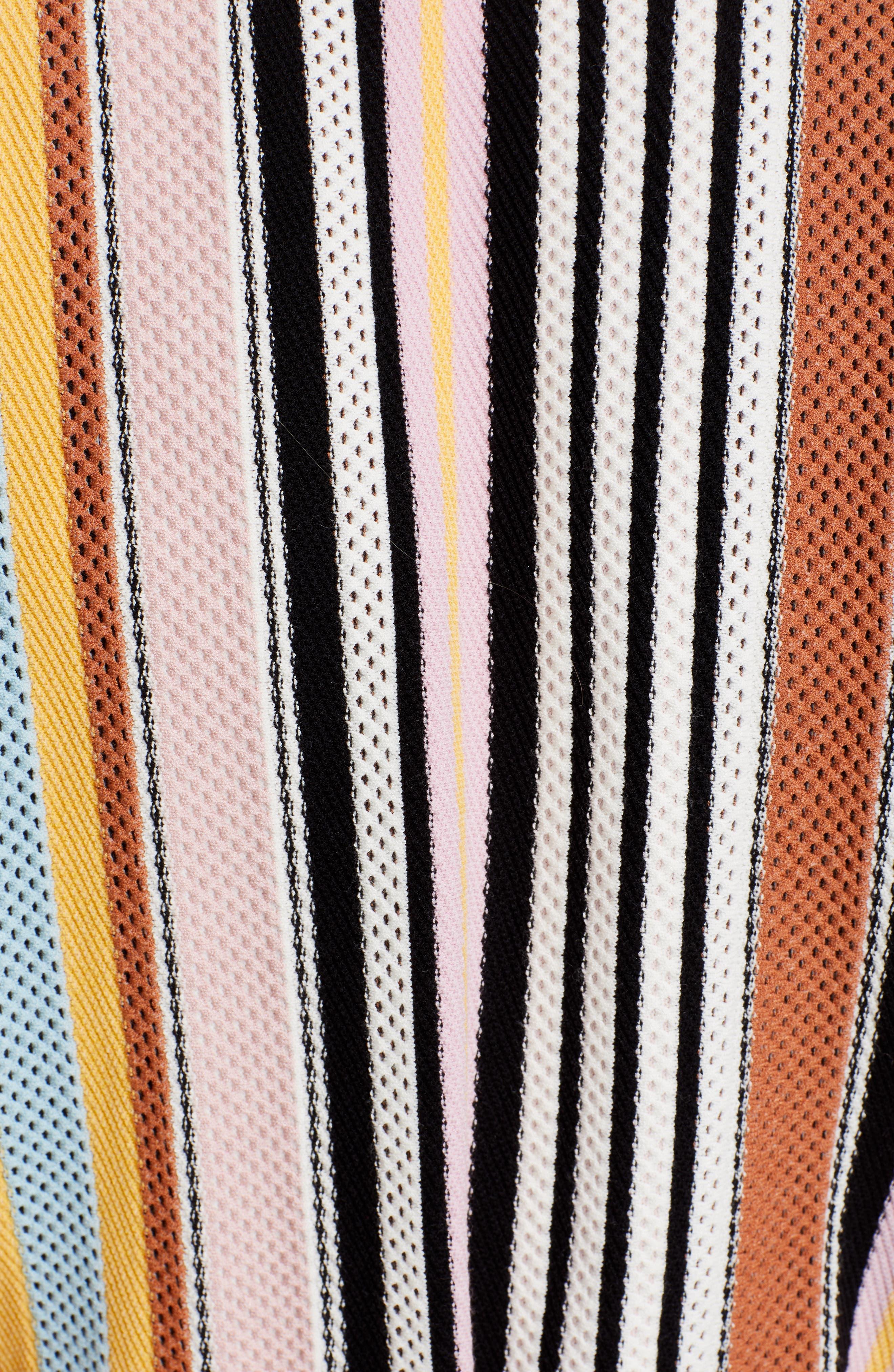 TORY BURCH, Stripe Sweater Dress, Alternate thumbnail 5, color, WEBBING STRIPE