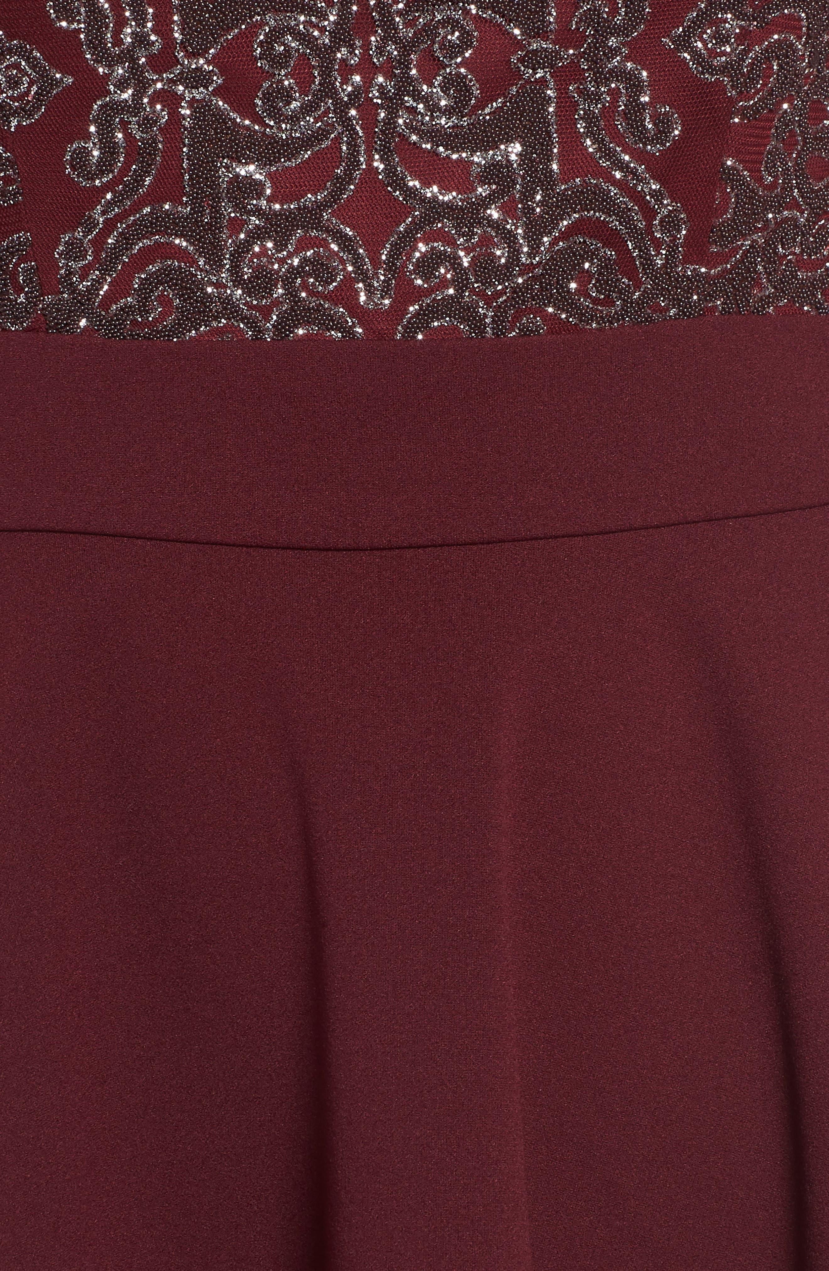 SPEECHLESS, Beaded Skater Dress, Alternate thumbnail 6, color, 930