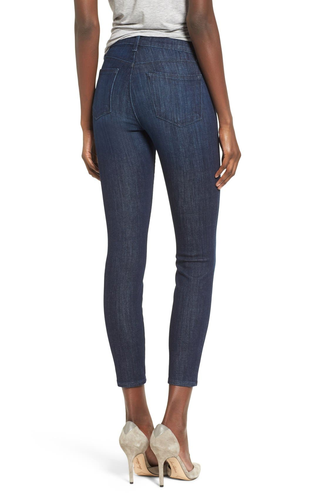 J BRAND, Alana Ripped High Rise Crop Skinny Jeans, Alternate thumbnail 5, color, 408