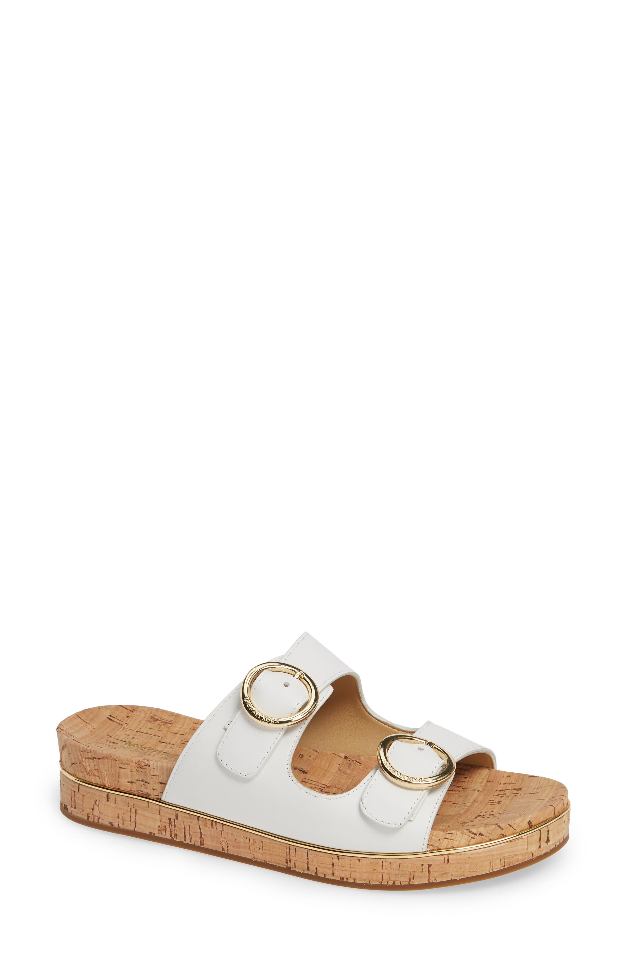 Michael Michael Kors Estelle Slide Sandal- White