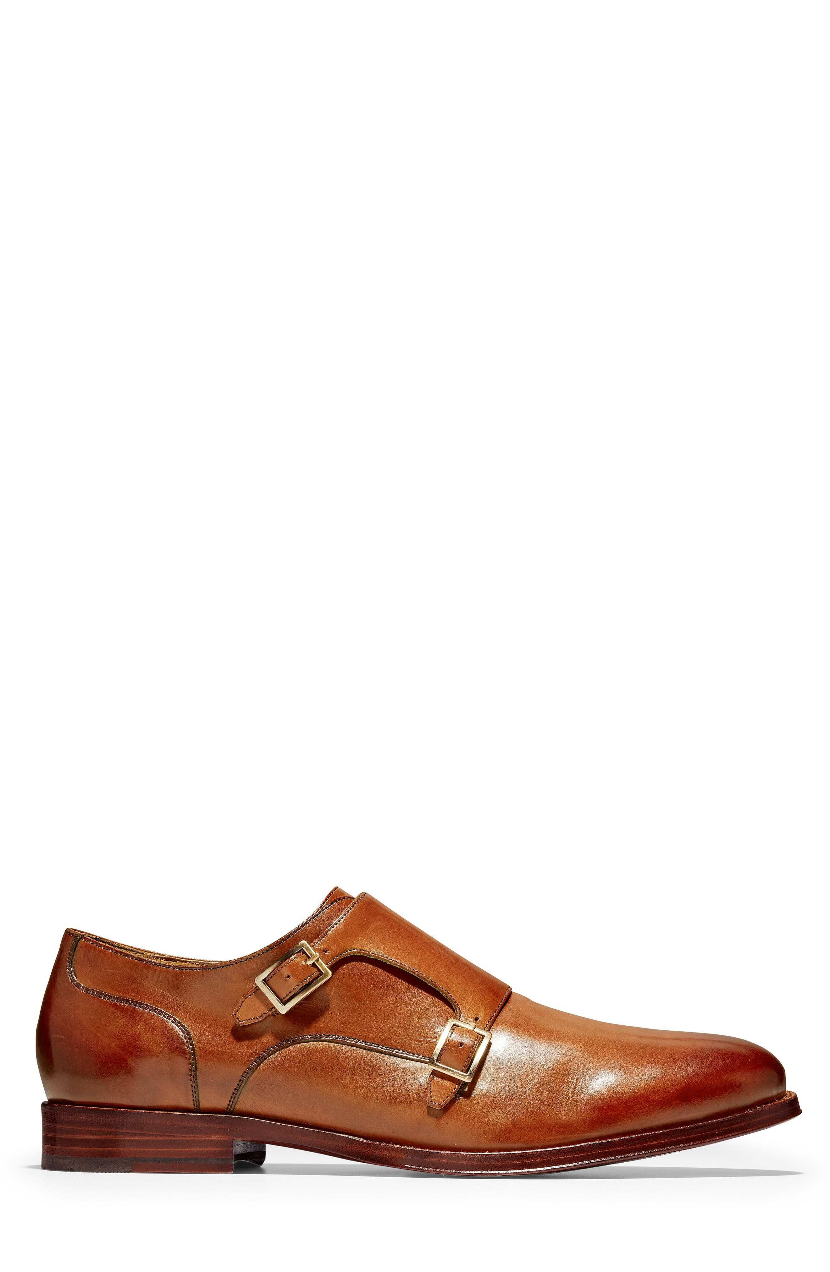 COLE HAAN, American Classics Gramercy Double Strap Monk Shoe, Alternate thumbnail 3, color, BRITISH TAN LEATHER