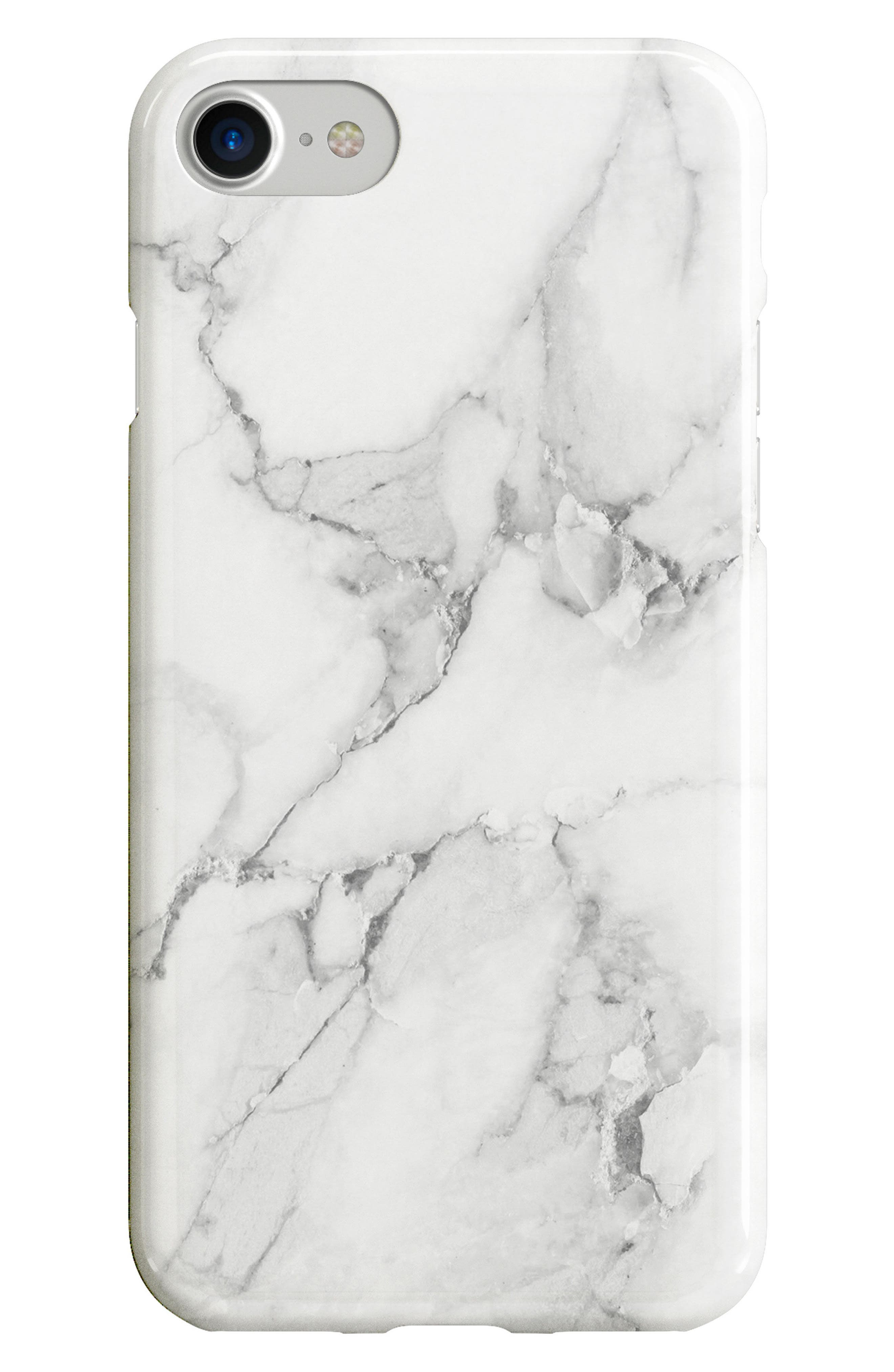 RECOVER, White Marble iPhone 6/6s/7/8 & 6/6s/7/8 Plus Case, Main thumbnail 1, color, WHITE MARBLE