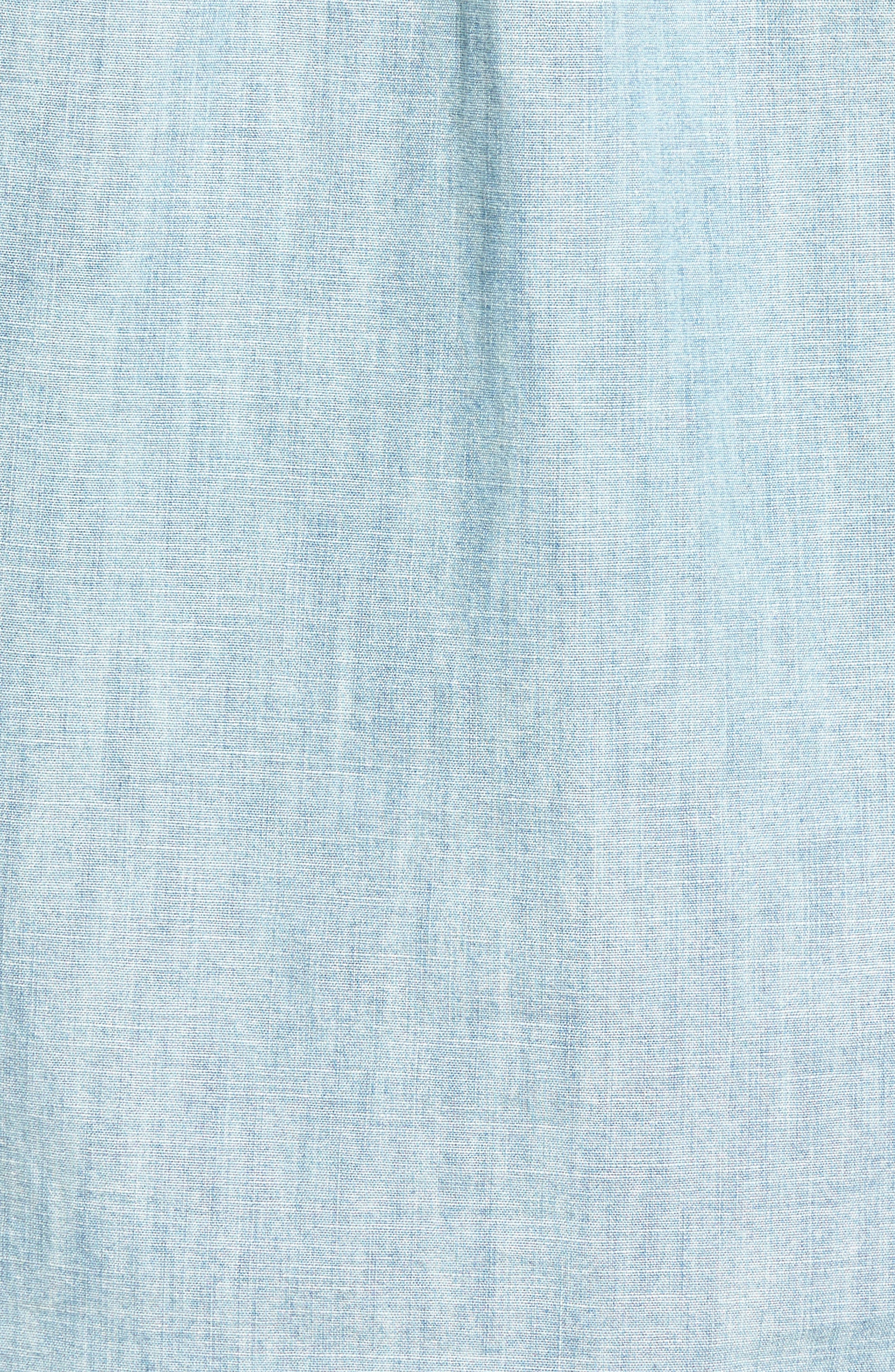 JEAN SHOP, Ethan Chambray Shirt, Alternate thumbnail 5, color, 470