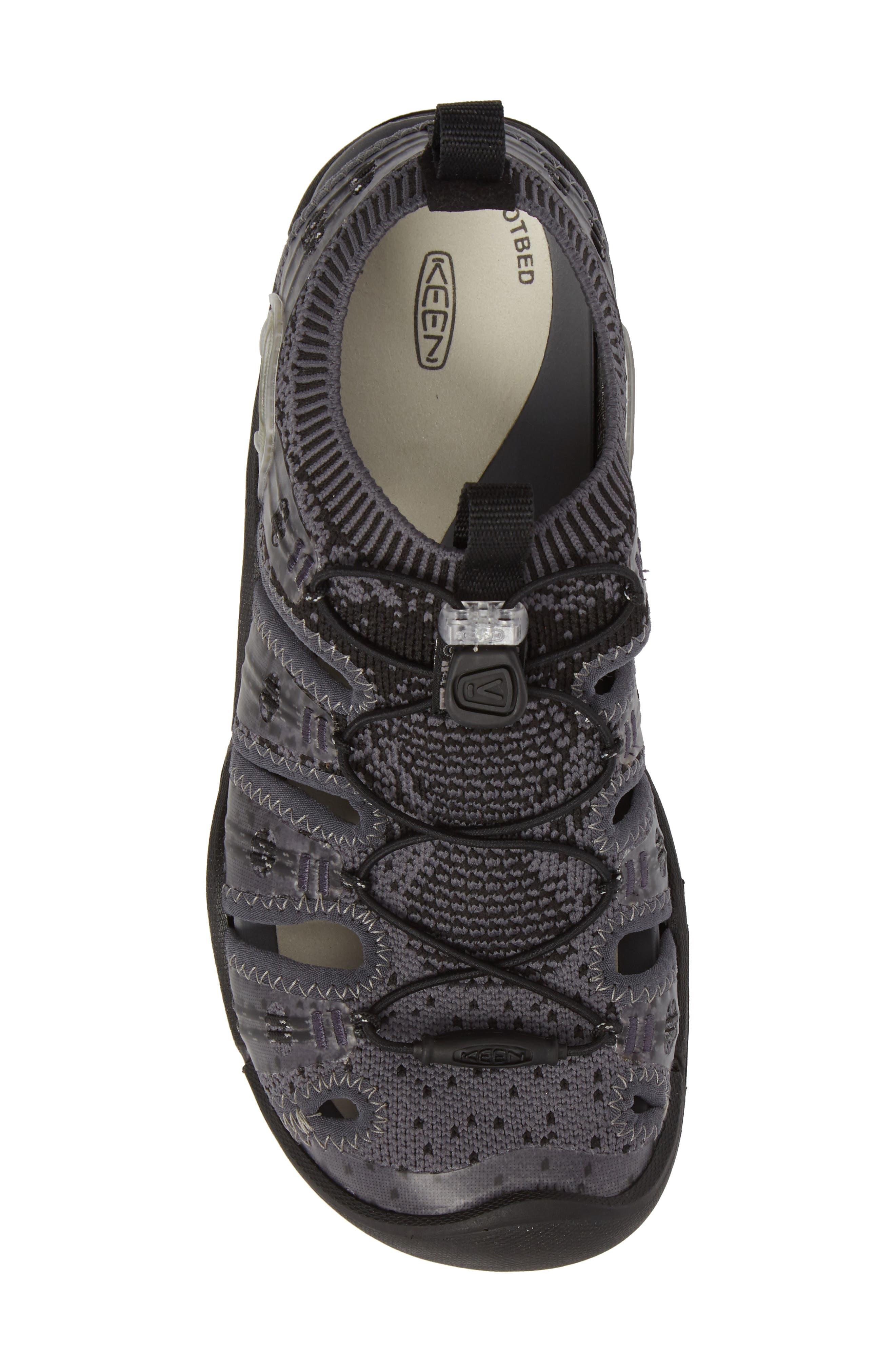 KEEN, EVOFIT One Sandal, Alternate thumbnail 5, color, HEATHERED BLACK/ MAGNET