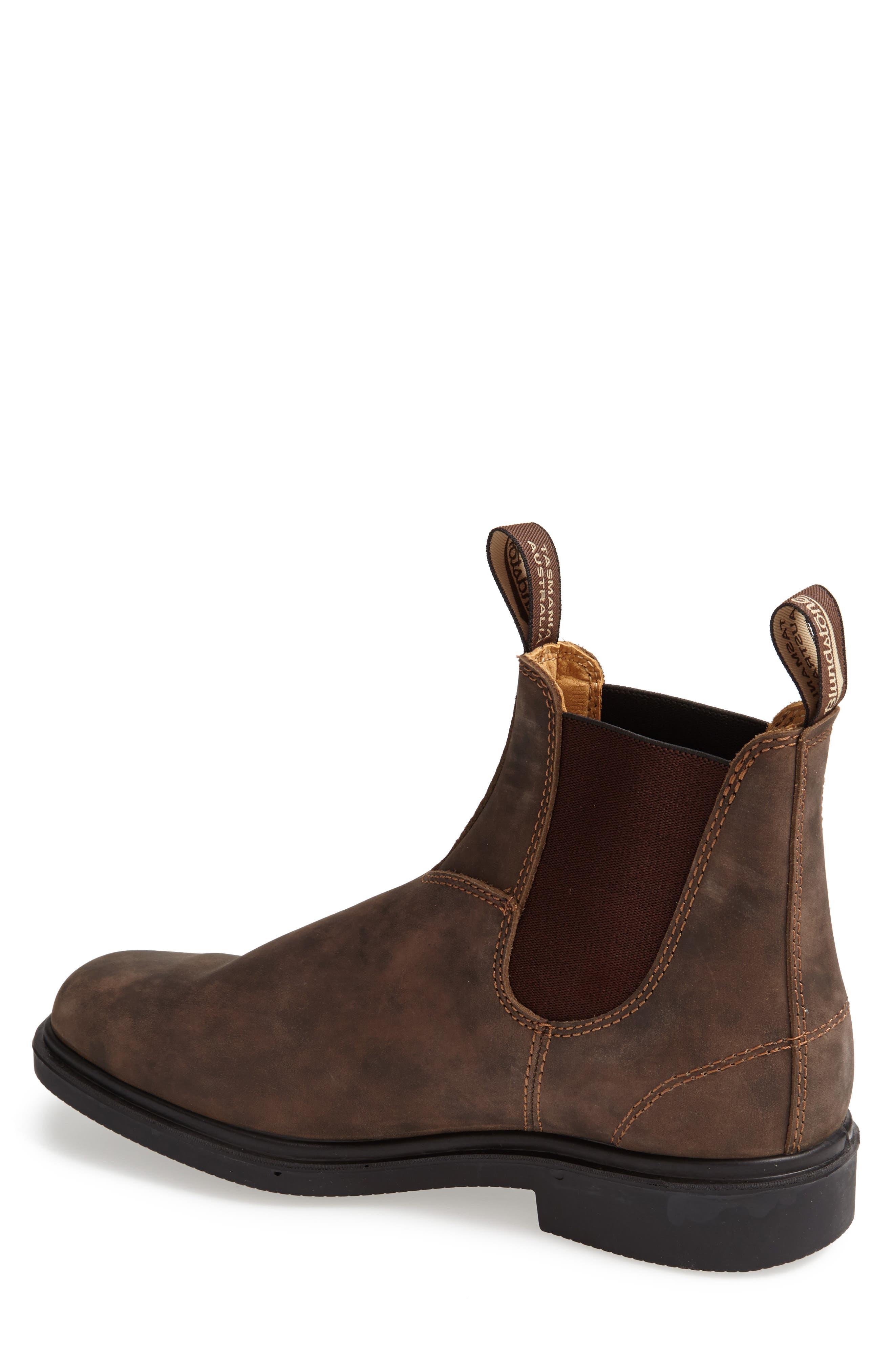 BLUNDSTONE FOOTWEAR, Chelsea Boot, Alternate thumbnail 4, color, RUSTIC BROWN